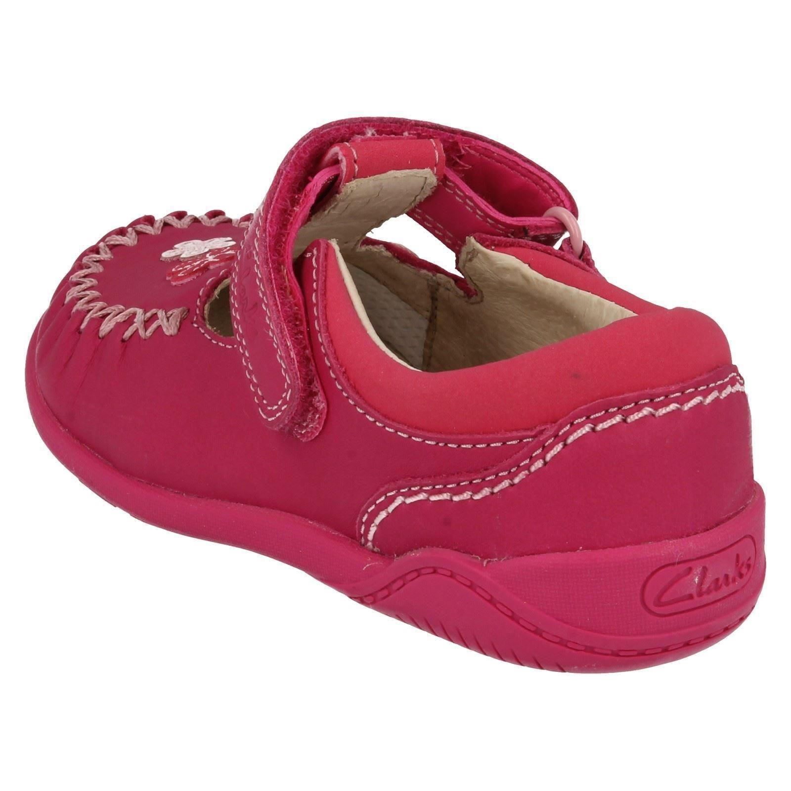 Infant Toddler Girls Clarks T-Bar First Leather Moccasin Style Shoes - Litzy Lou