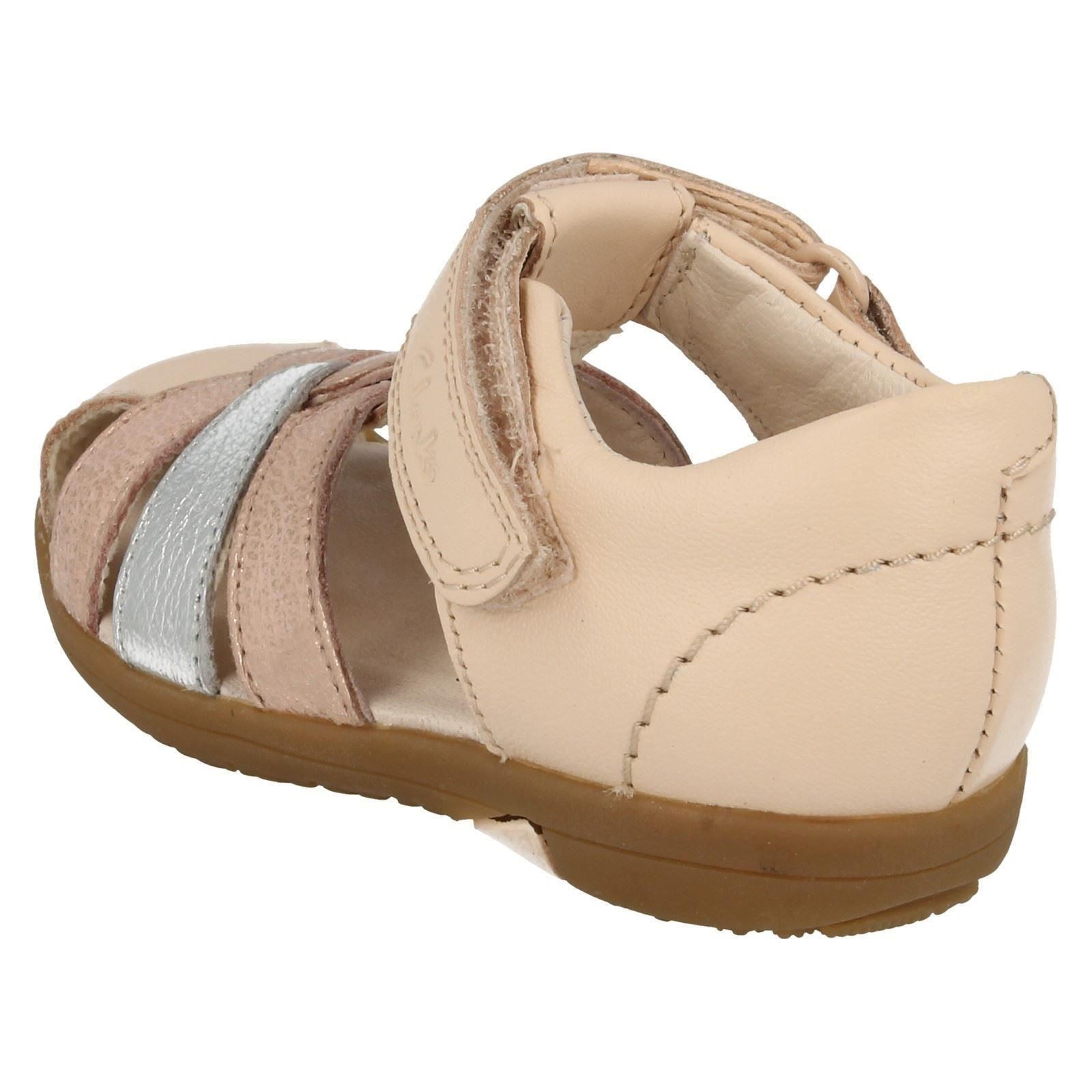 901ad375378 Girls Clarks First Shoes Closed Toe Summer Sandals  Softly Mae