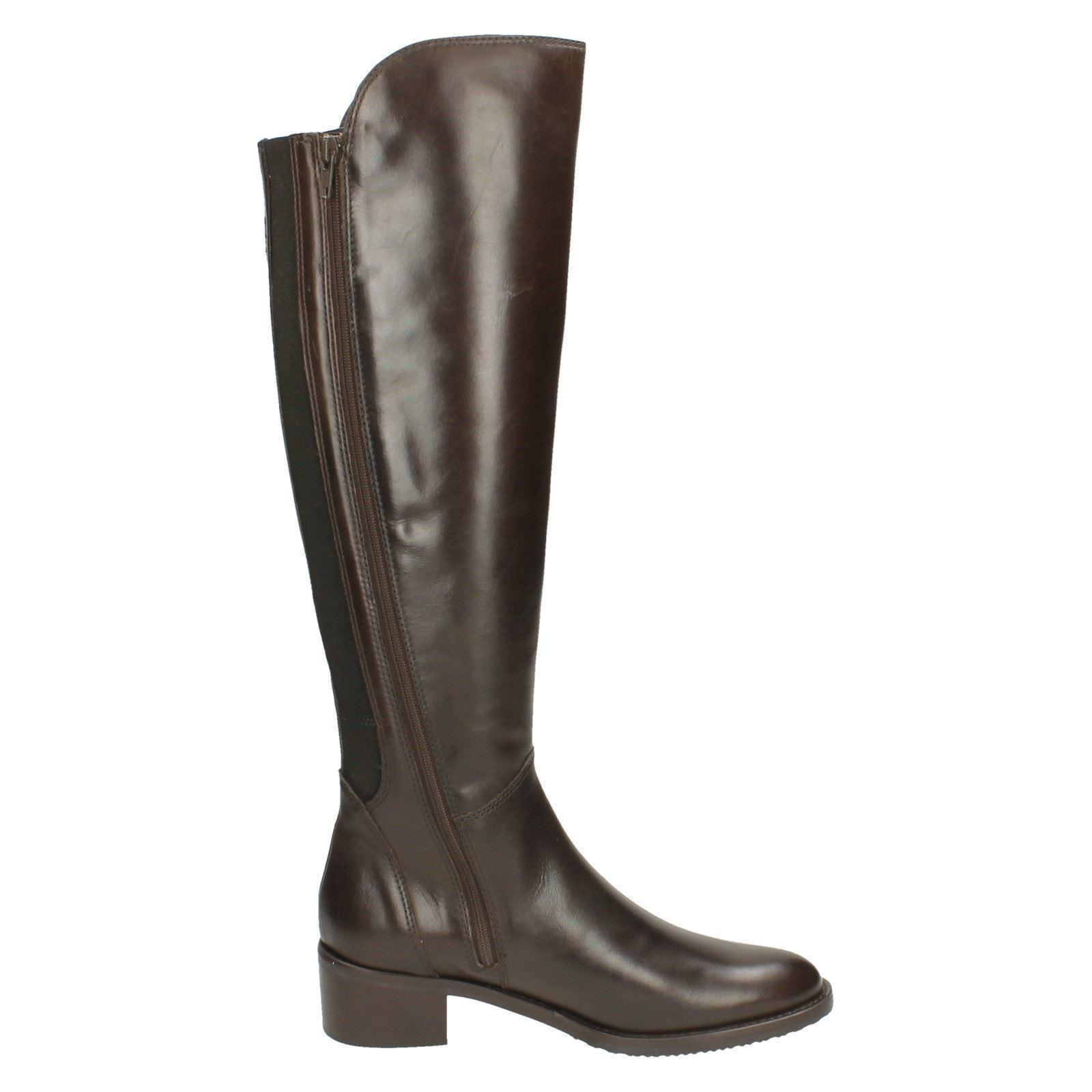 1356c74773b Details about Ladies Clarks Knee High Boots Valana Melrose