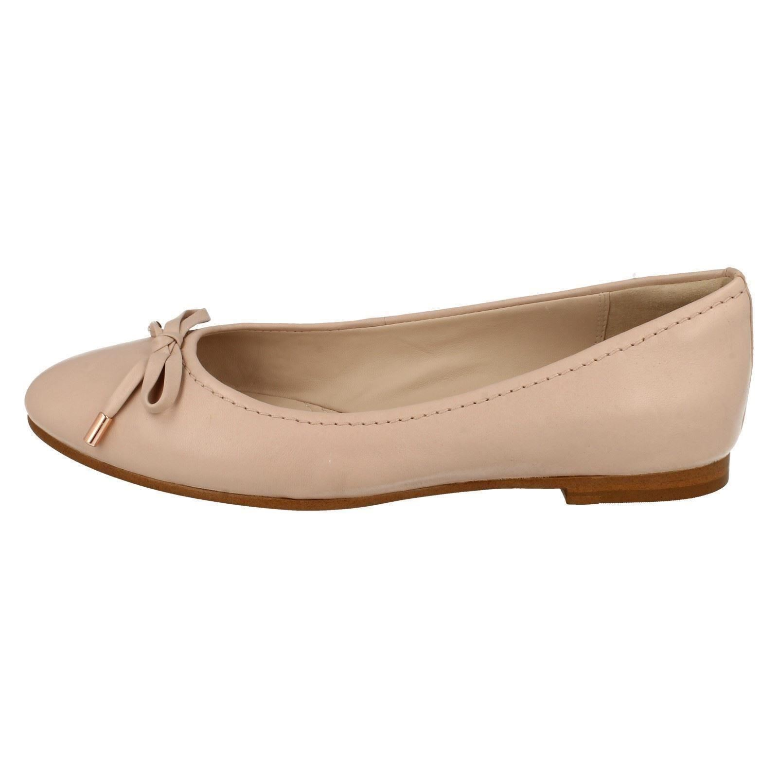 Femmes Clarks Plates Dolly Chaussures Grace Lily Coral (Pink