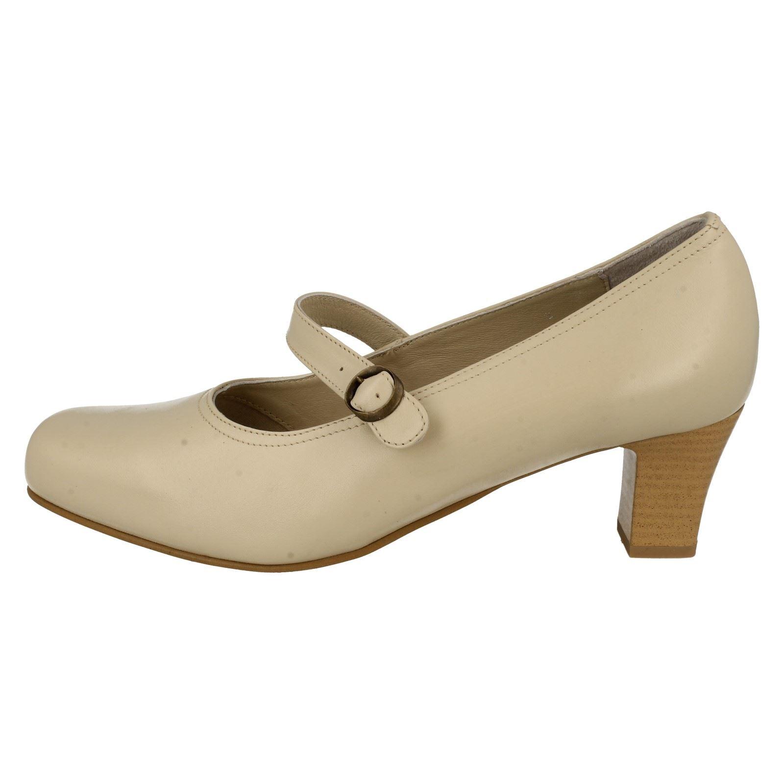 Damas Zapatos Taco de Bloque da Bella inteligente Ascot