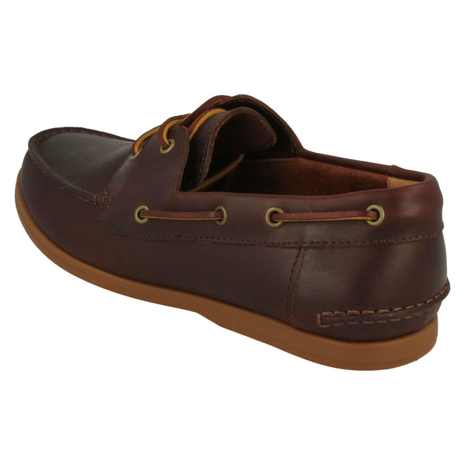 'Mens Clarks' - Lace Up Boat Shoes - Clarks' Morven Sail 676f7f