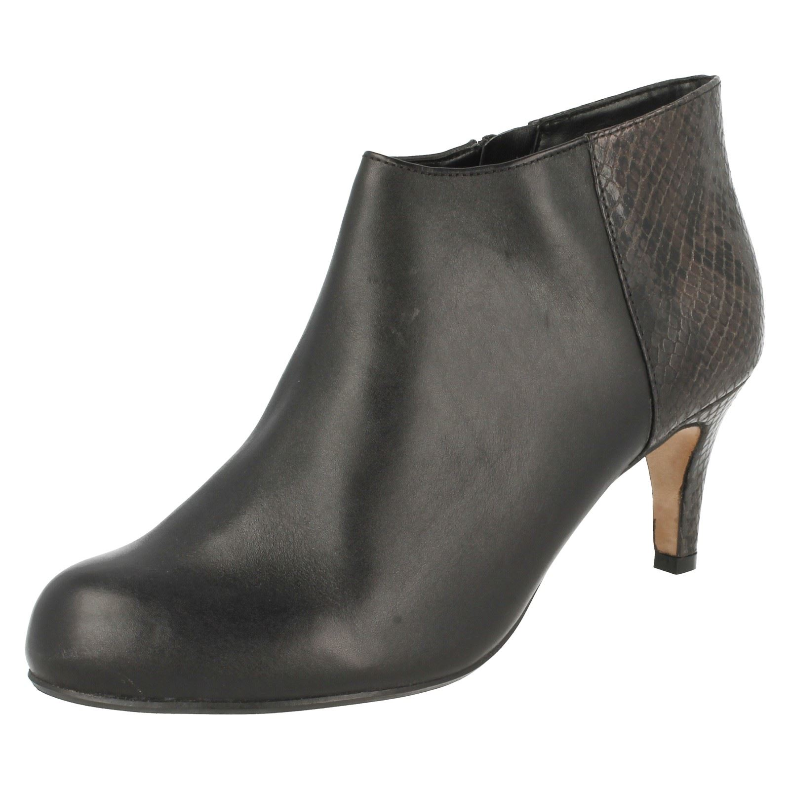 'Ladies Clarks' Smart Ankle Boots - Arista Flirt