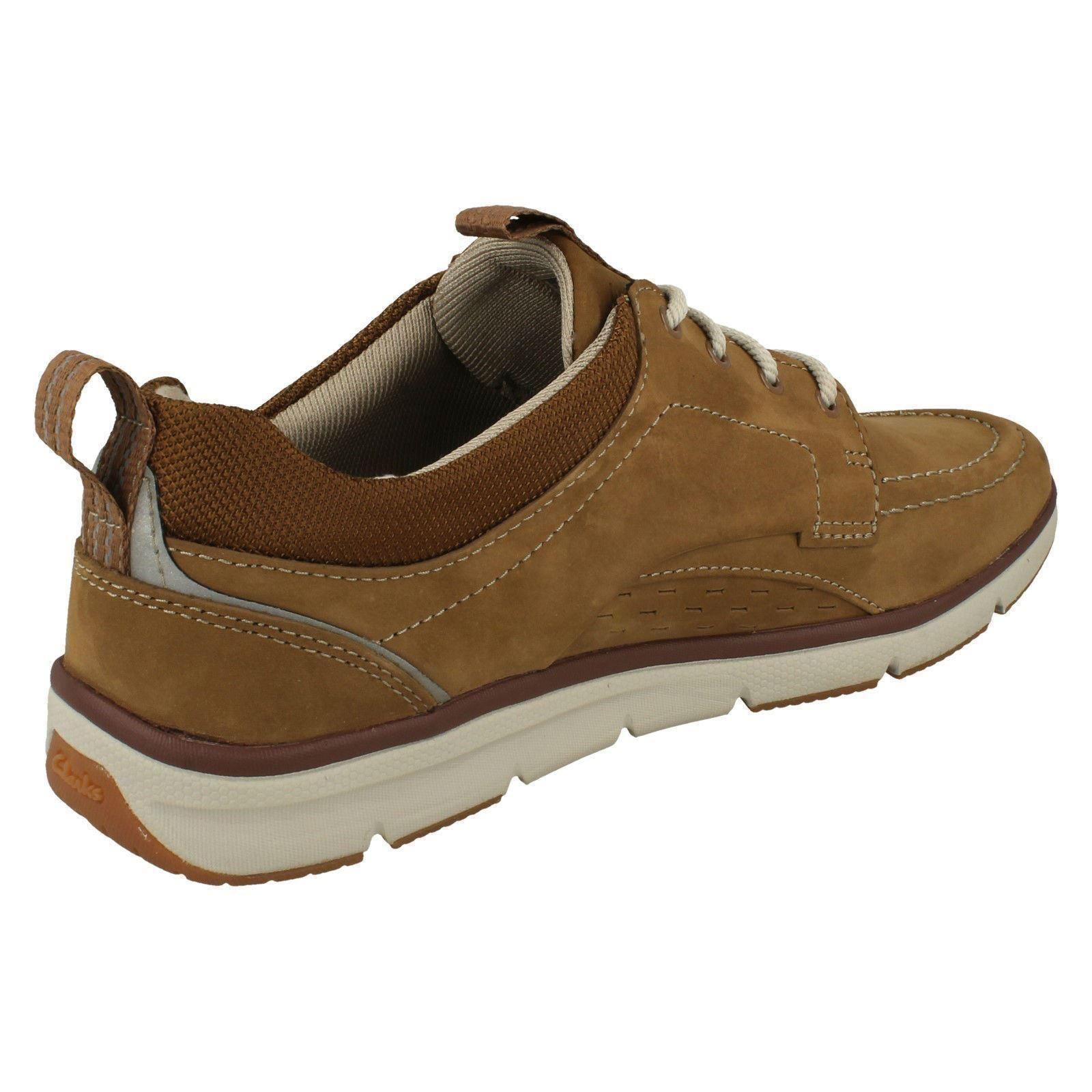 hot sales huge inventory premium selection Details about Mens Clarks Rounded Toe Casual Lace Up Nubuck & Textile Shoes  Orson Bay