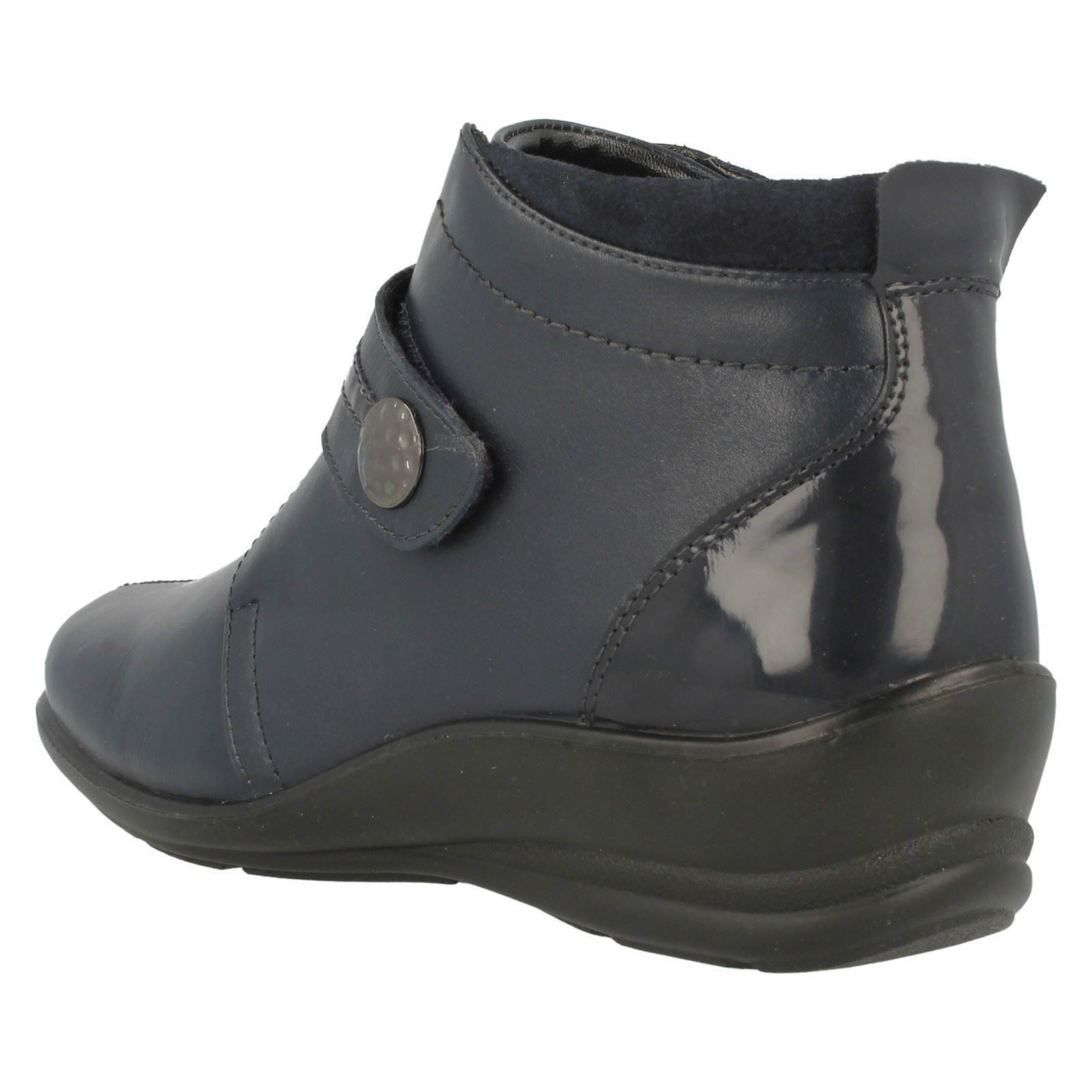 Ladies Padders Casual Hook And Loop Dual Fit Ankle Ankle Ankle Boots Shirley f521b2