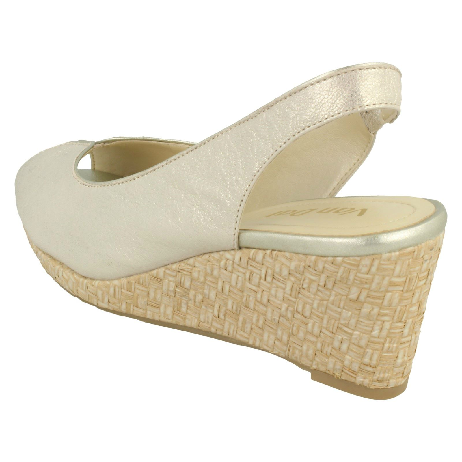 Ladies-Van-Dal-Leather-Wedge-Sandal-With-Woven-Detail-Avalon thumbnail 18