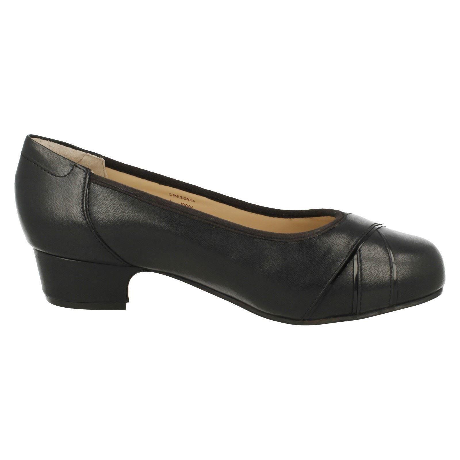 Ladies Equity Wide Fit Low Heel Court Shoes 'Cressida'