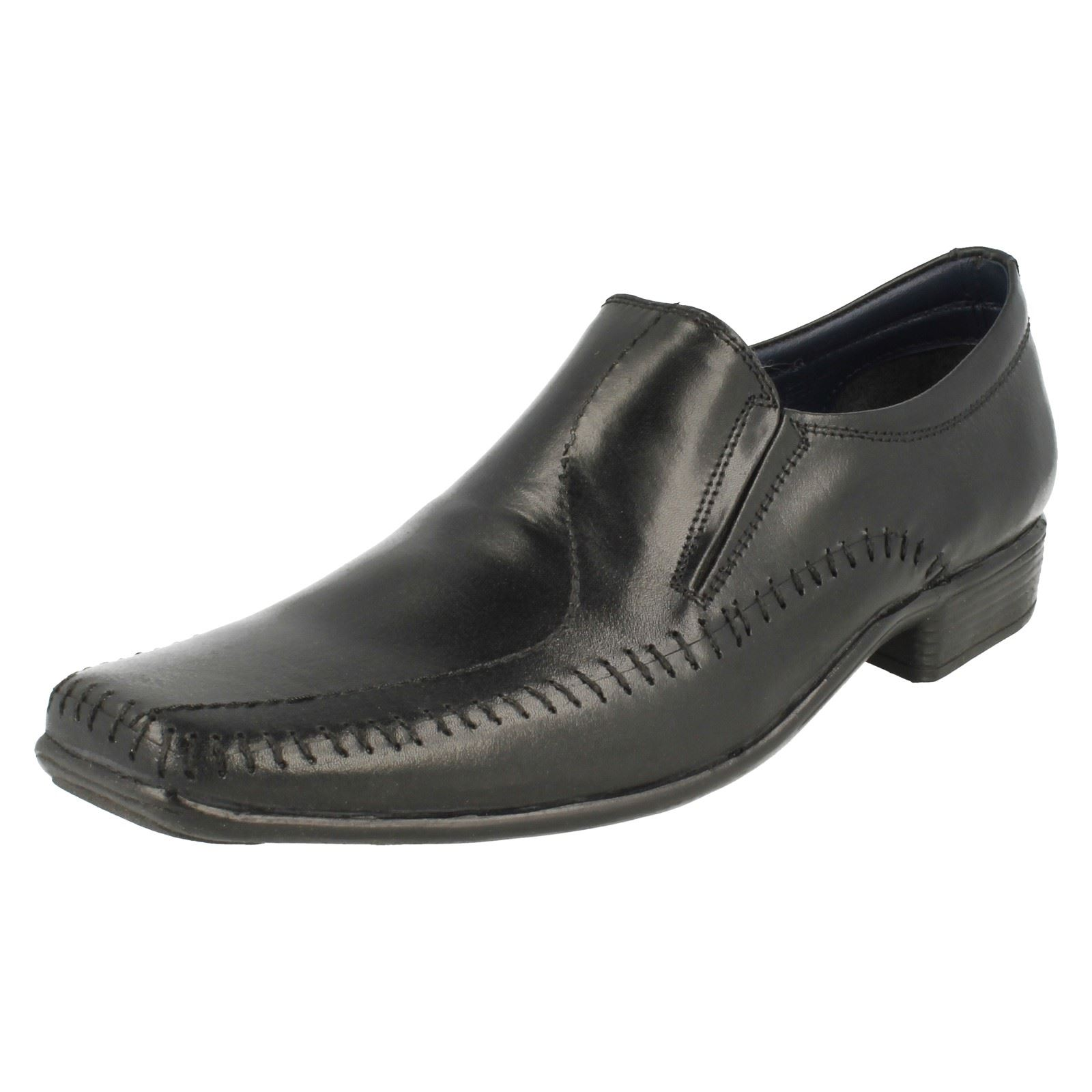 Mens PSL Formal Smart Squared Toe Slip On Leather shoes LE054B