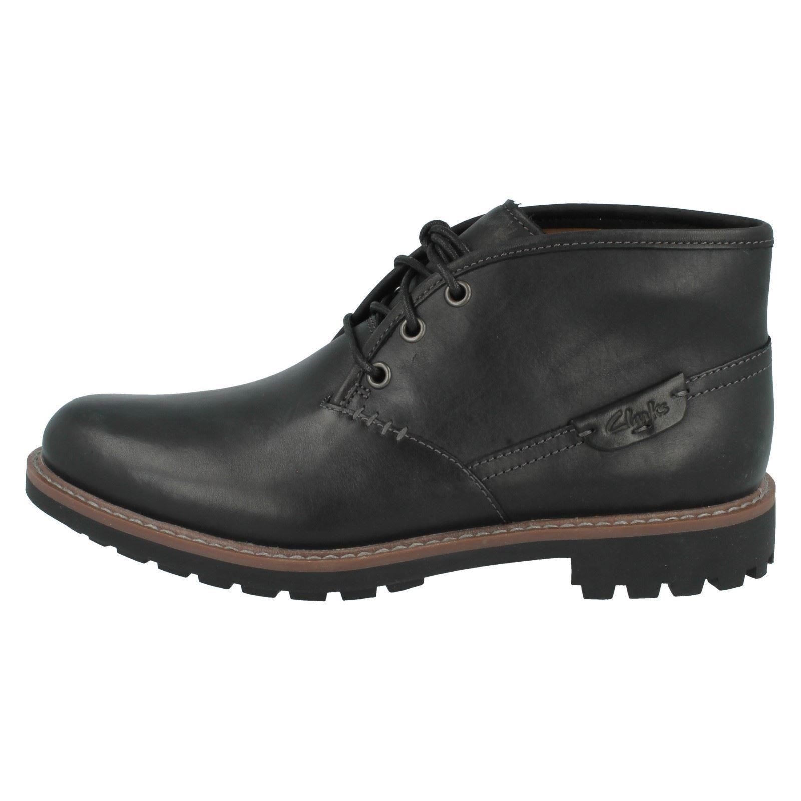 0ef67e92c2cf4 Clarks Mens Casual Montacute Duke Leather BOOTS in Black 9 G ...