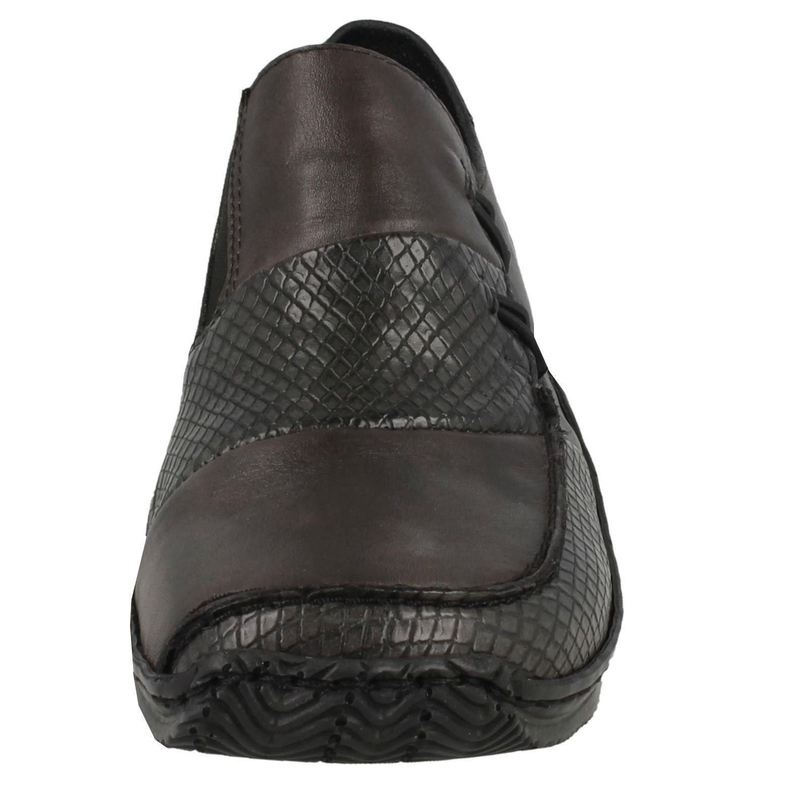Ladies Faux Faux Faux Loop Fastening Rieker Slip On shoes L1762 99389c