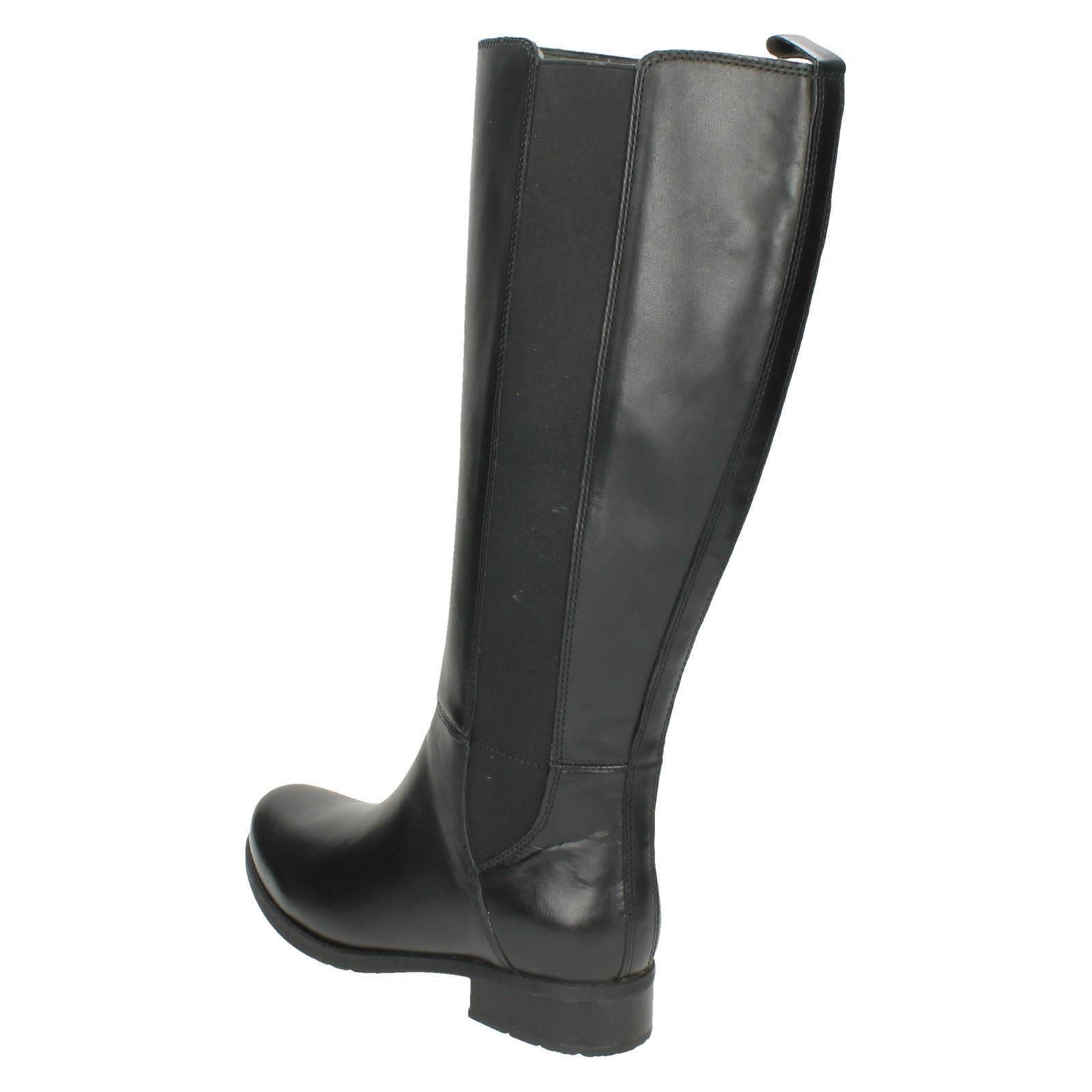 cb5b7051cd5 Ladies Clarks Smart Long BOOTS Style - Verlie Gail Black Leather 6.5 UK D