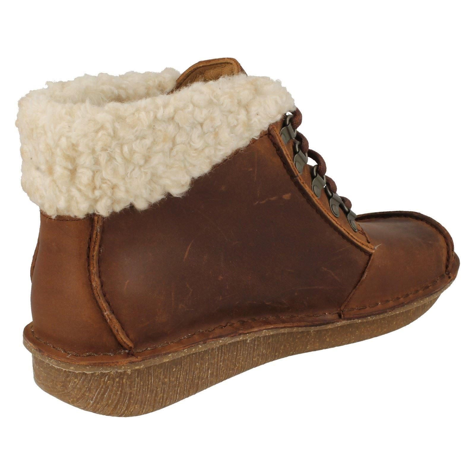 shop best sellers exclusive deals buy best Details about Clarks Ladies Fur Top Ankle Boots Funny Girl