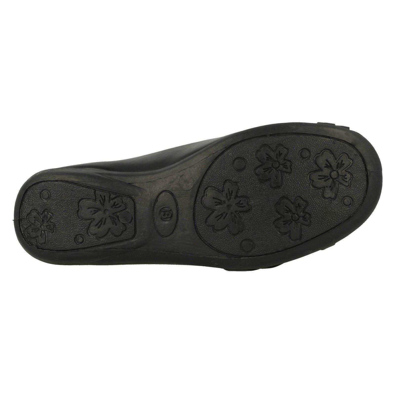 Niñas Spot on Resbalón en Zapatos De Escuela H2379