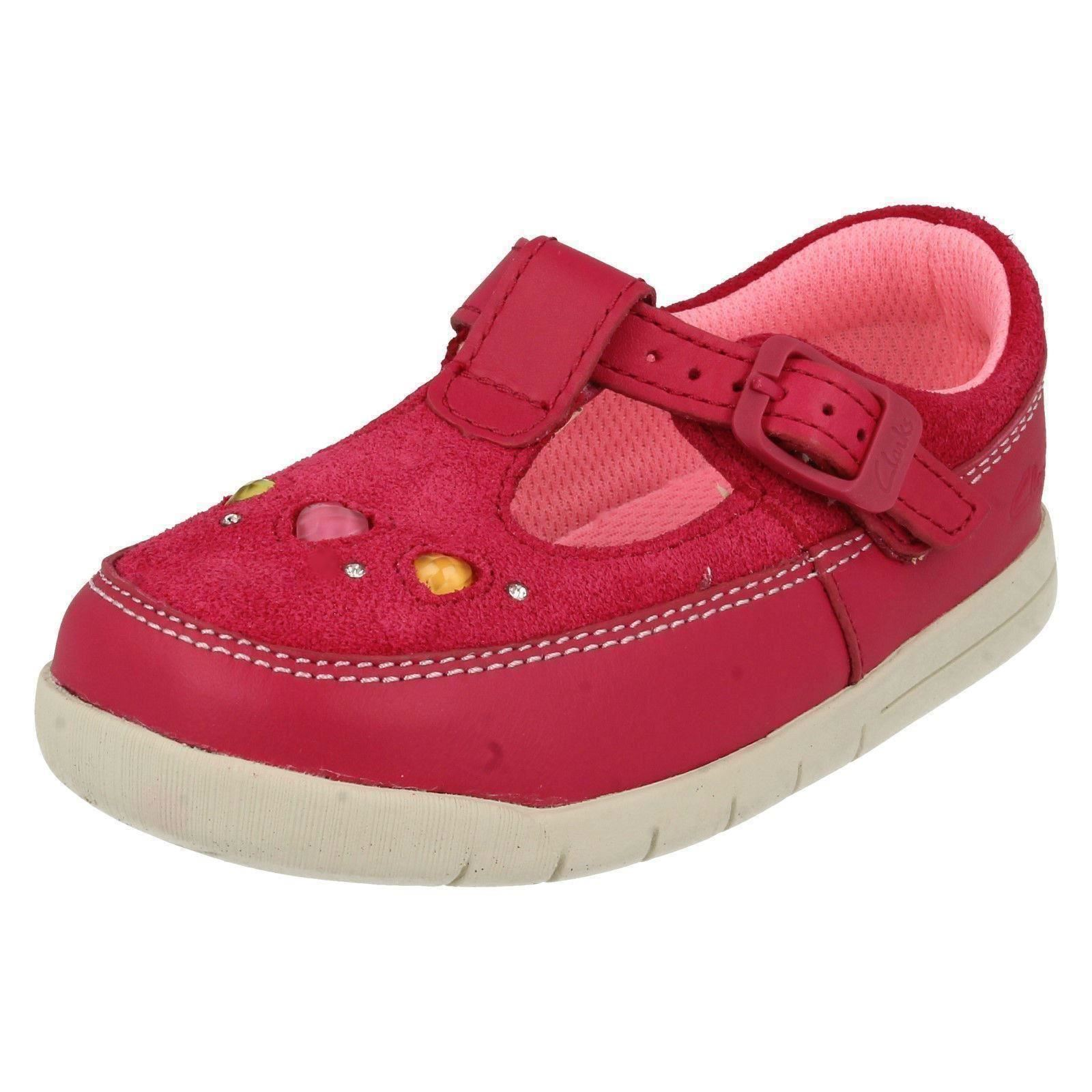 Girls Clarks Buckle Shoes Crazy Dot