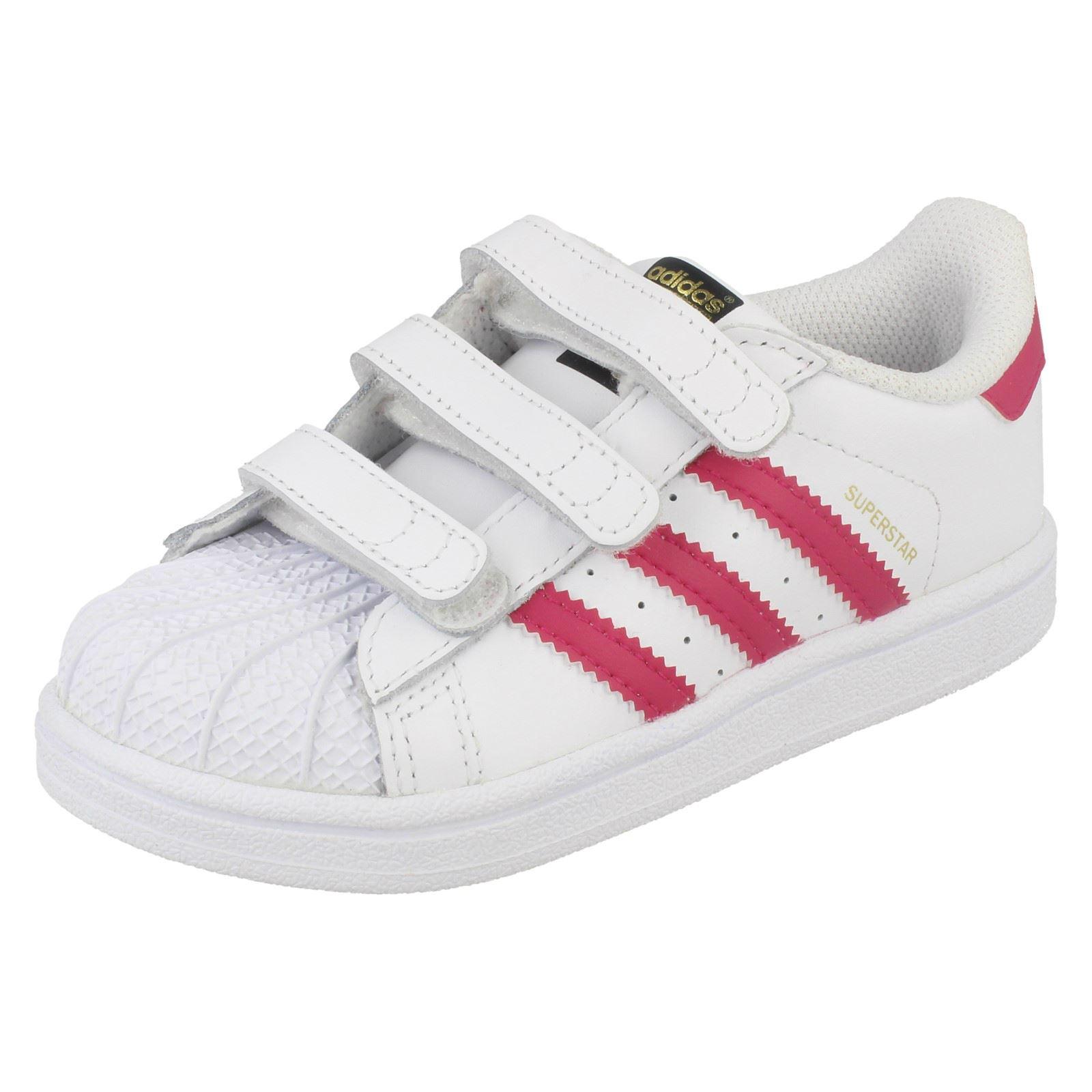 estropeado Supermercado Aparecer  Infant Girls Adidas Casual Trainers 'Superstar CFI' | eBay