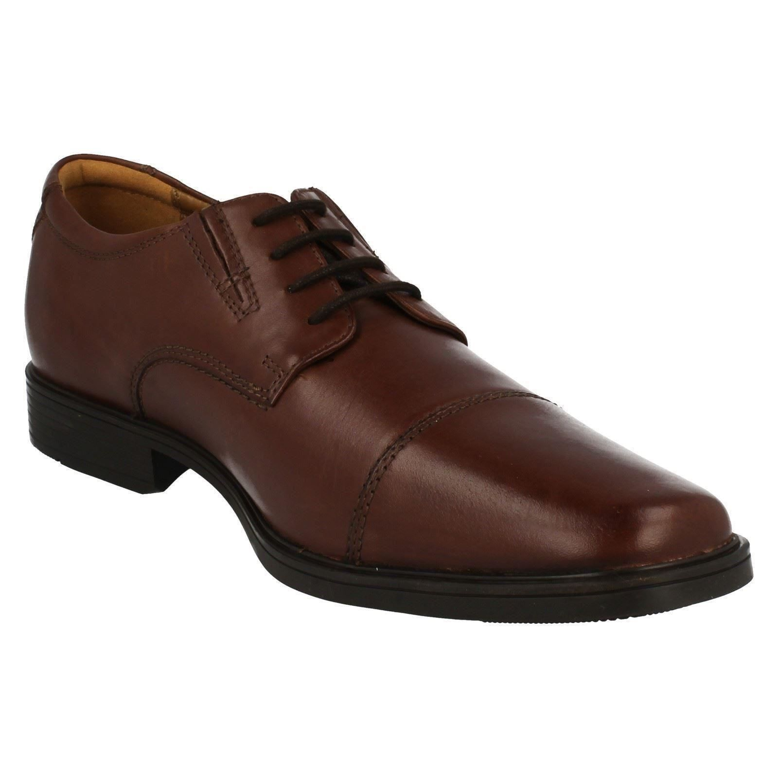 Mens-Clarks-Formal-Lace-Up-Shoes-Tilden-Cap thumbnail 12