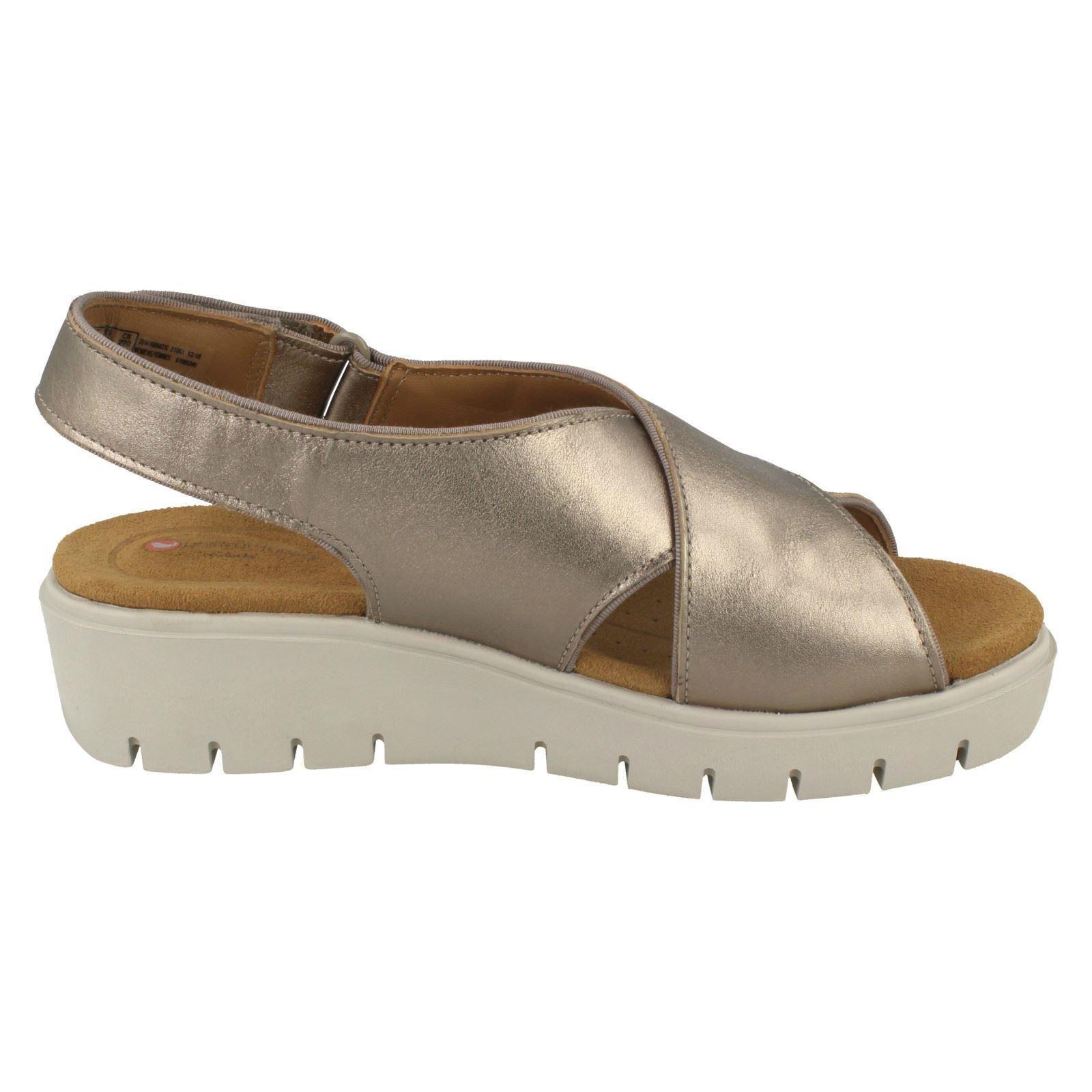 d09677a53c Ladies Clarks Unstructured Wedge Slingback Sandals - Un Karely Sun ...