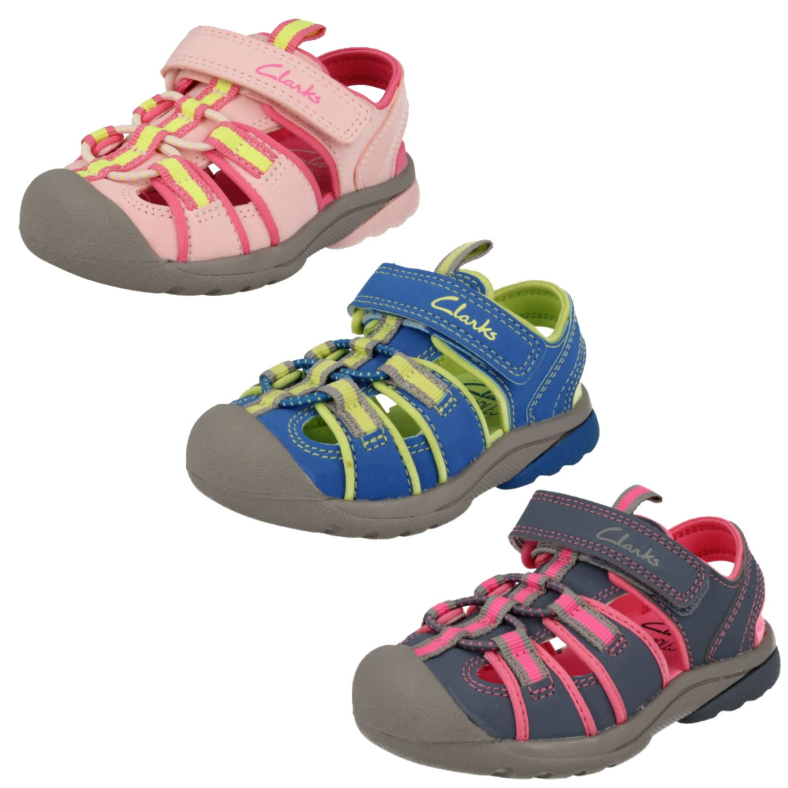 76e21fad7ed2 Clarks Childrens Unisex Closed Toe Sandals Beach Tide