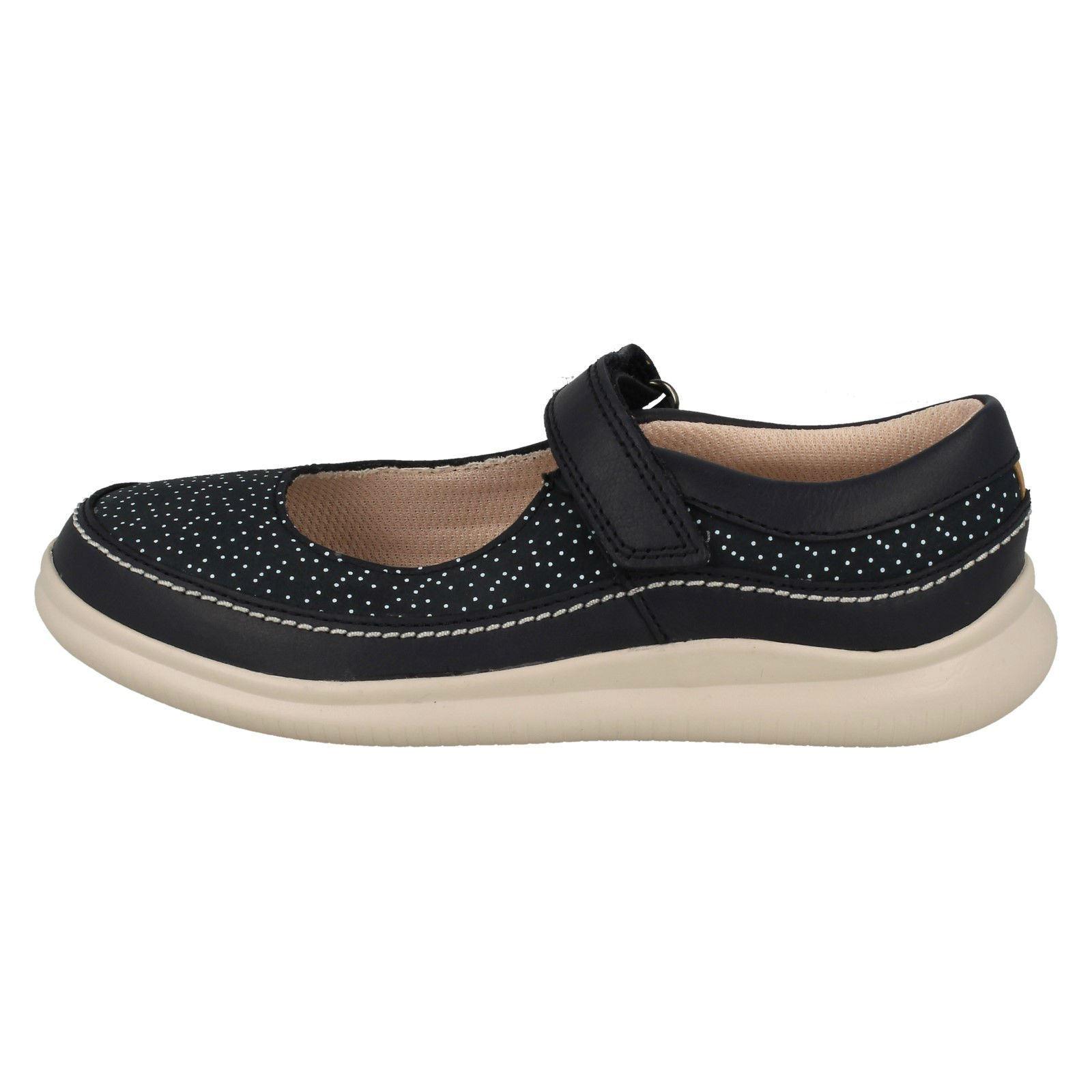 Casual Cloud Niñas Zapato azul Fiesta Clarks Navy PSxqgw4x