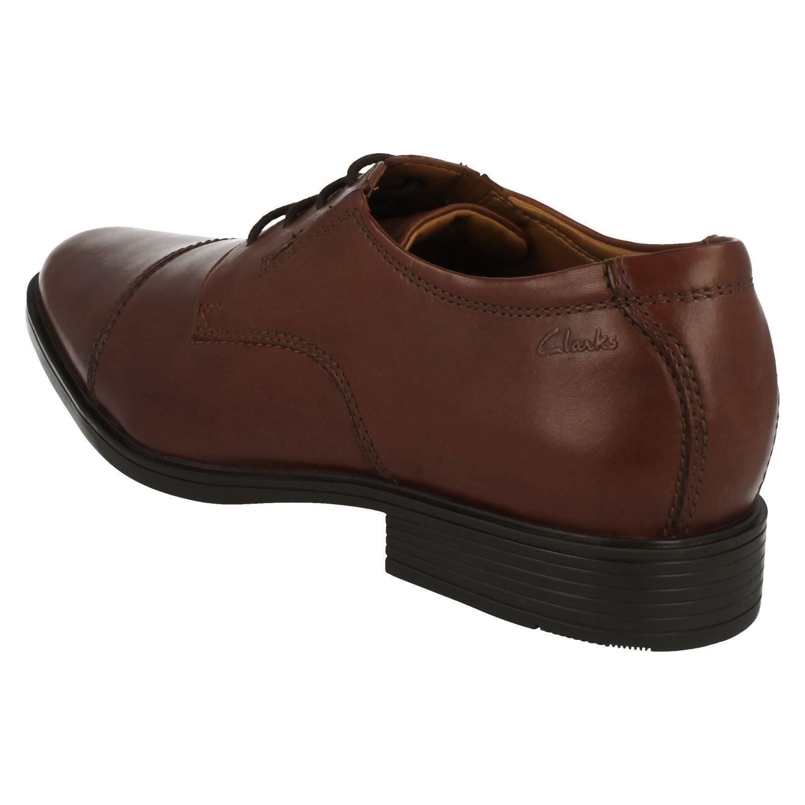 Mens-Clarks-Formal-Lace-Up-Shoes-Tilden-Cap thumbnail 14