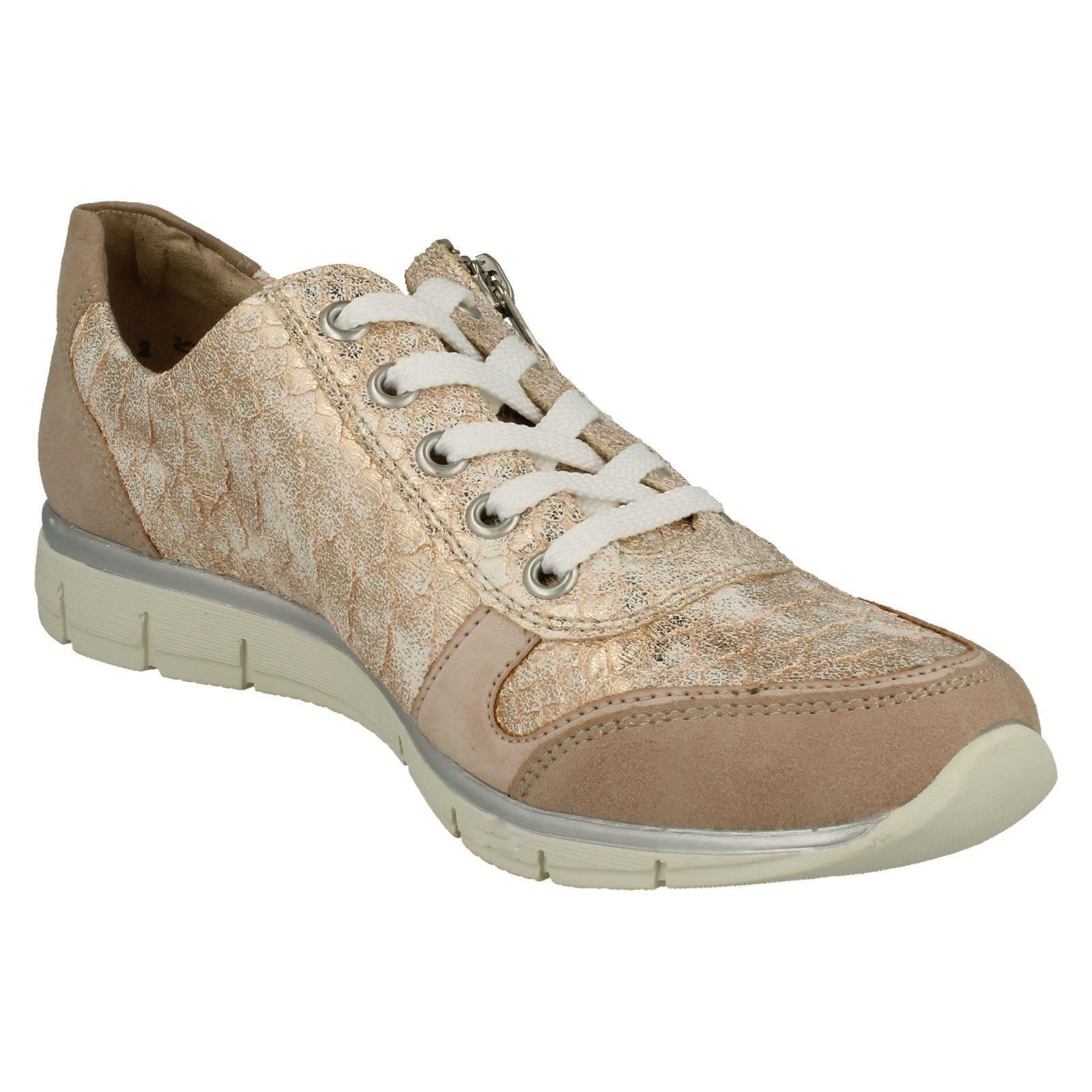 Ladies Rieker Lace Up Trainer Style Shoes N4020