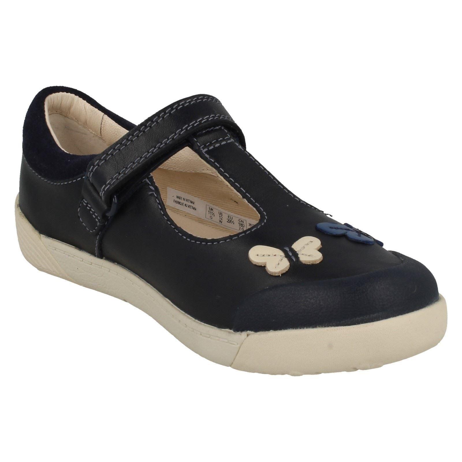 para T azul azul marino bar Folk Clarks Zapatos niñas Flo Lil w47qYx6I