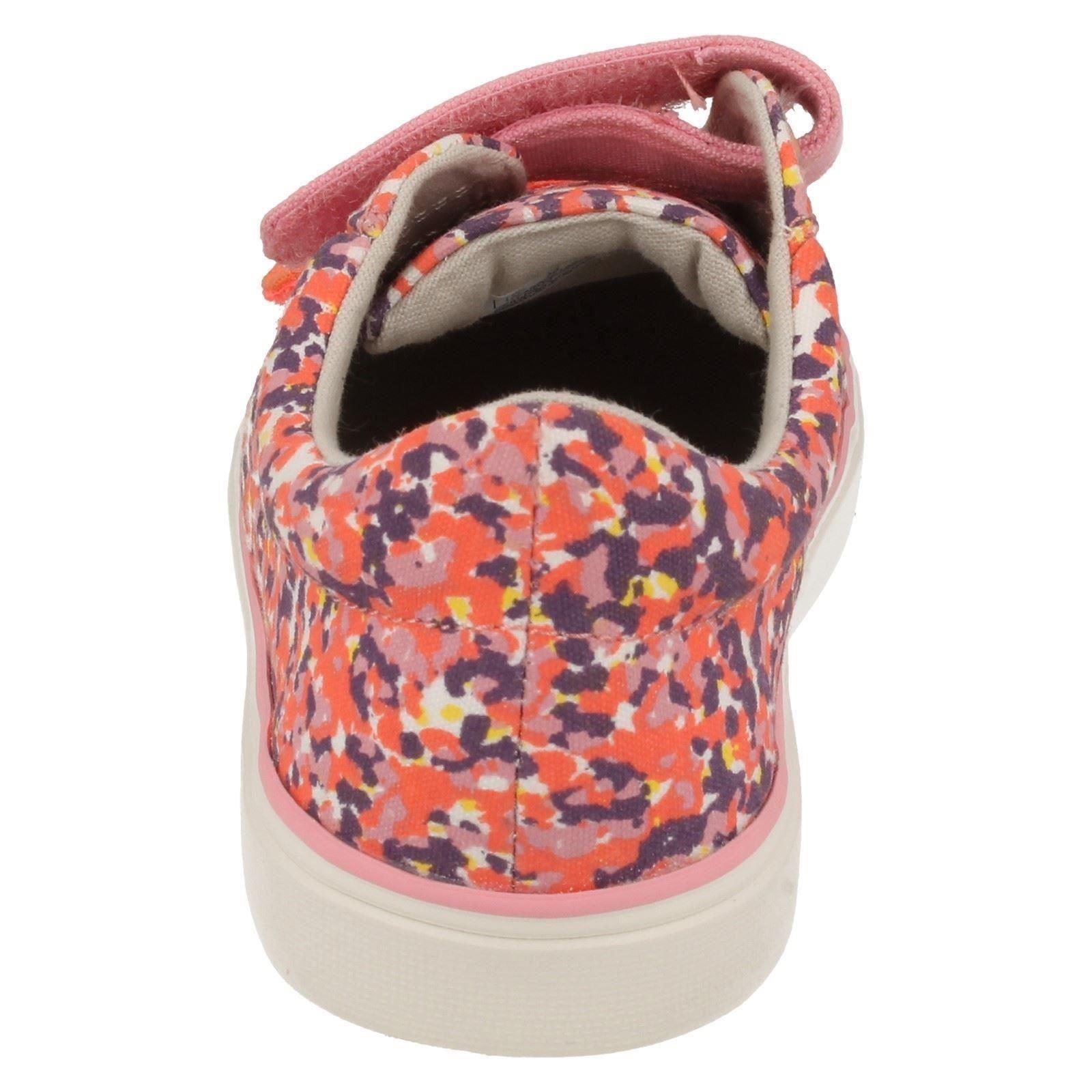 Infant/Junior Girls Clarks Summer Canvas Pumps Brill Ice