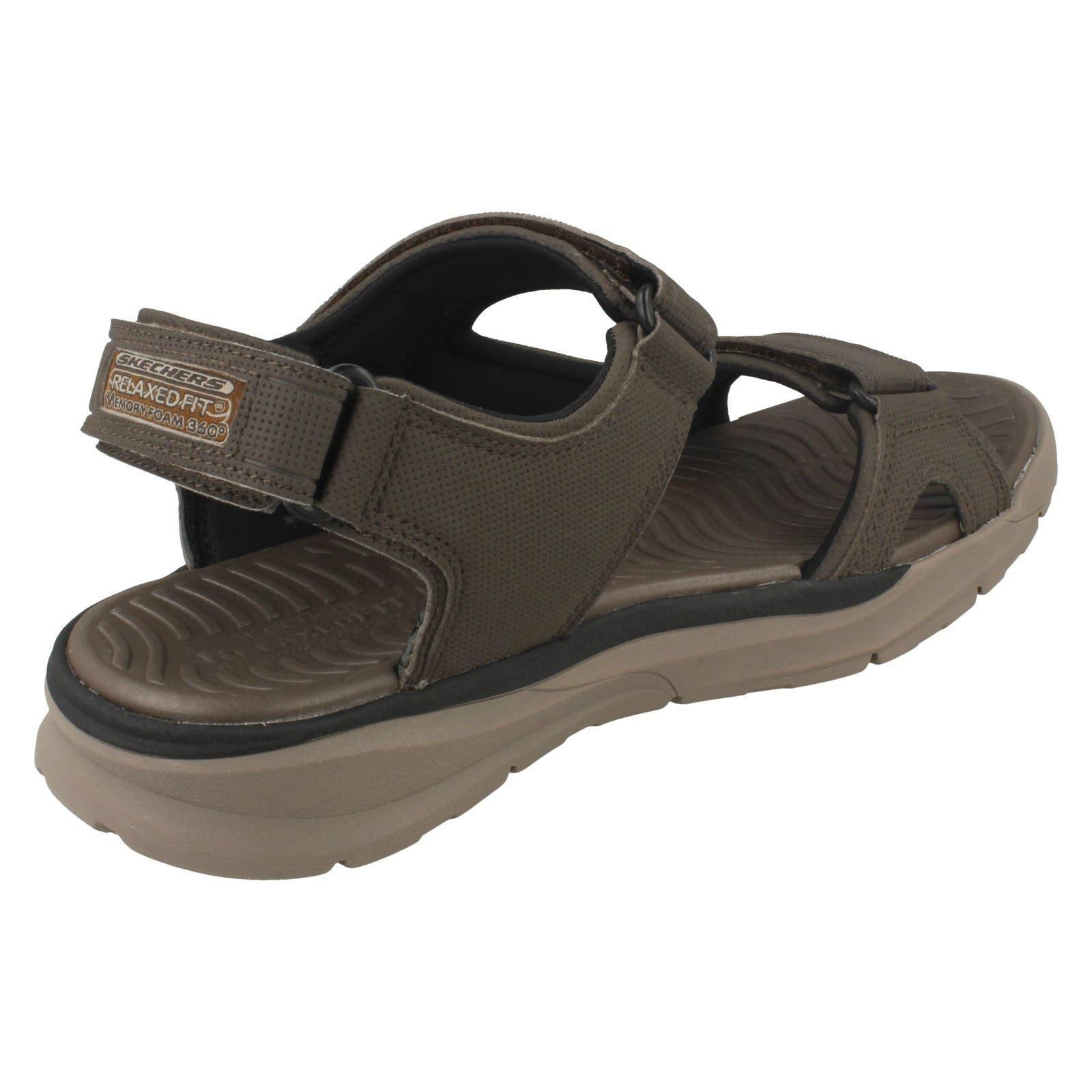skechers relaxed fit memory foam mens slippers