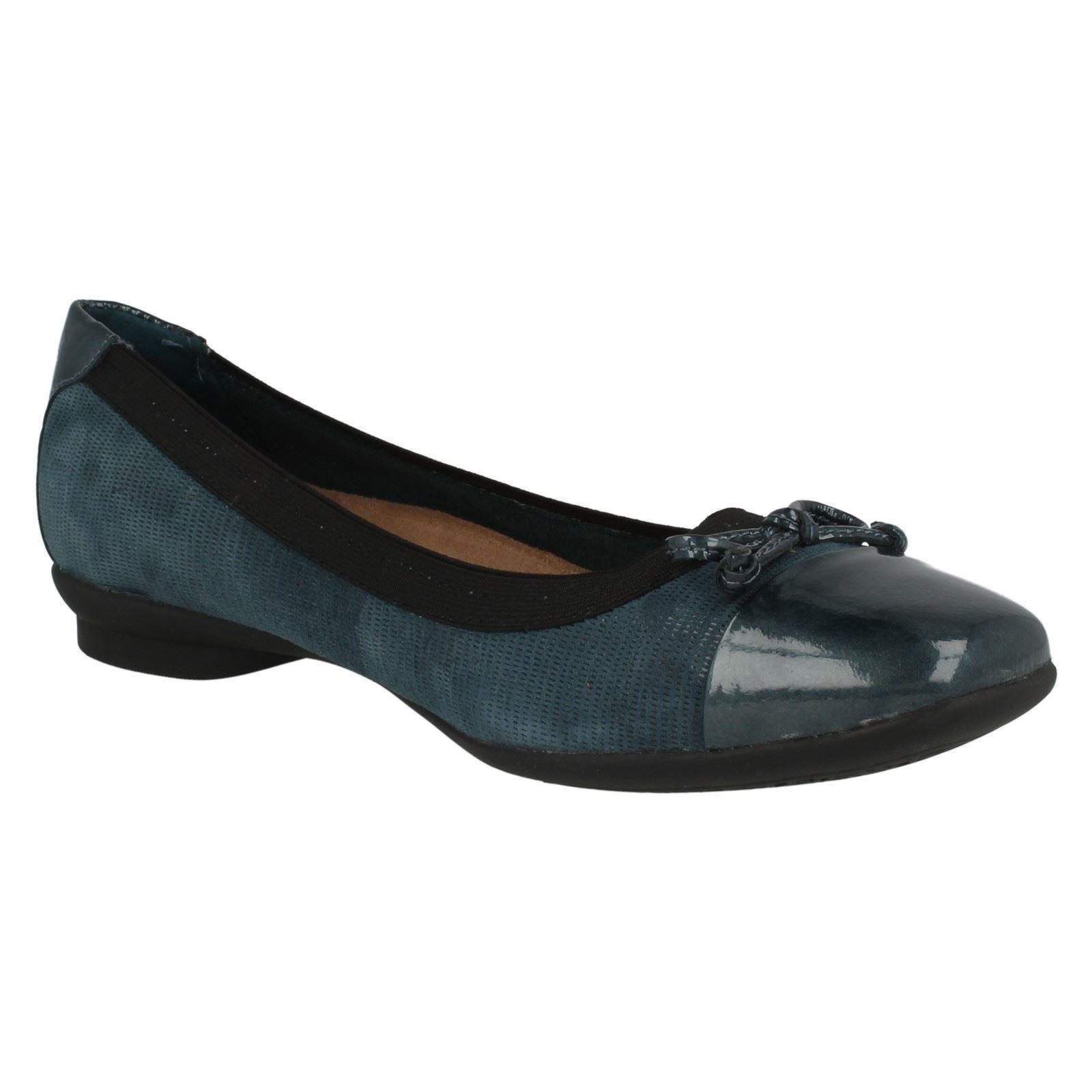 Clarks Ladies Wide Fitting Ballet Pumps Candra Glow