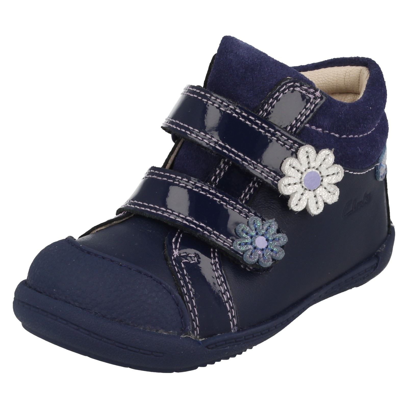 Clarks niñas Botines Clarks azul Navy para Softly BEEdrqR