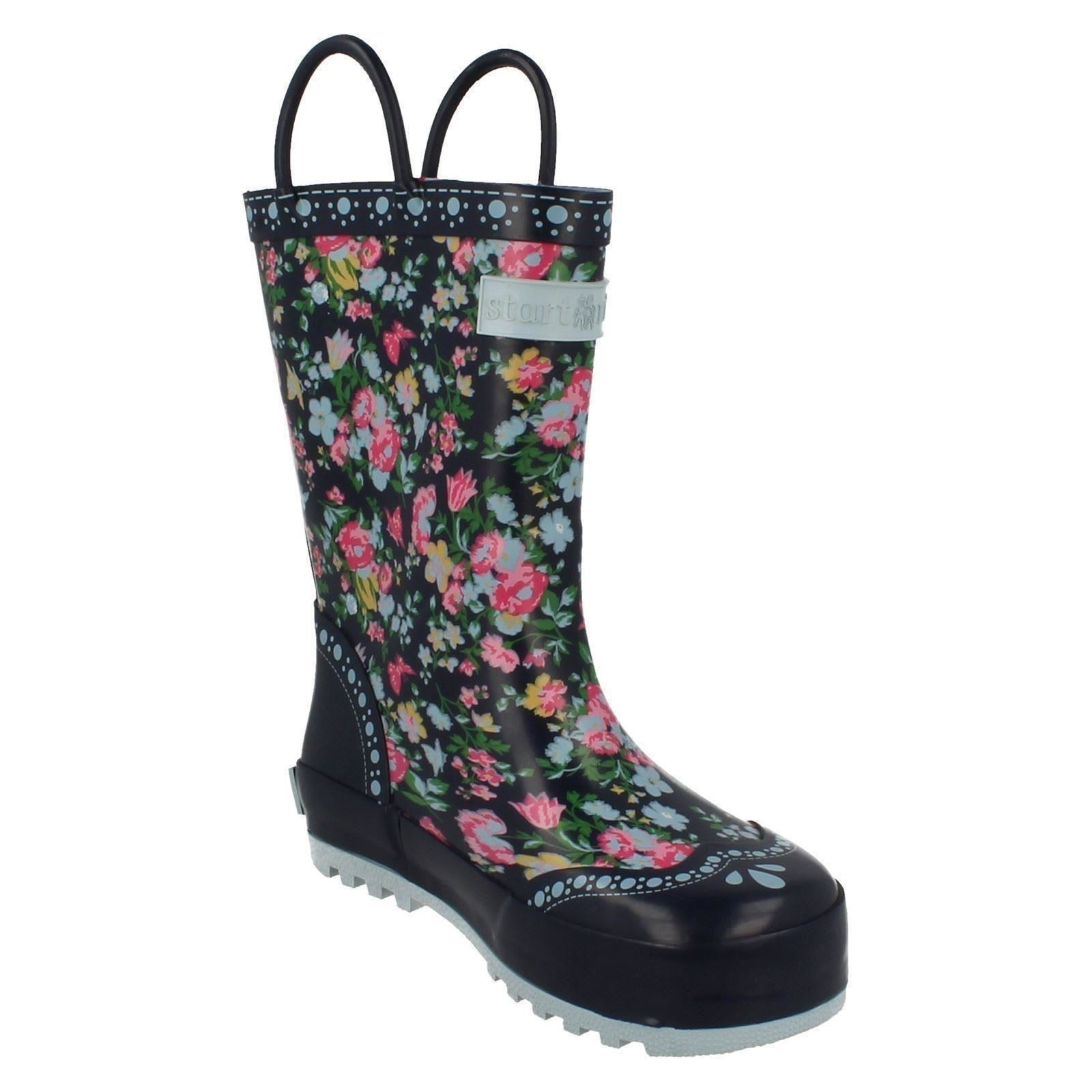Infant/Junior Startrite Girls Warmlined Wellington Boots Posy Puddle