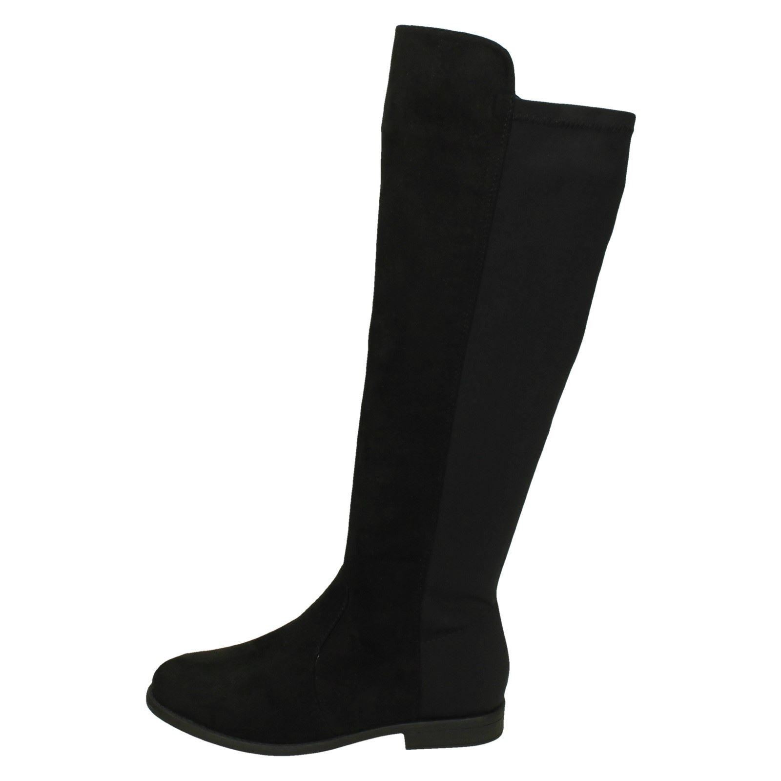neri larga con Stivali gamba donna e da tacco alto Pzq8Fx