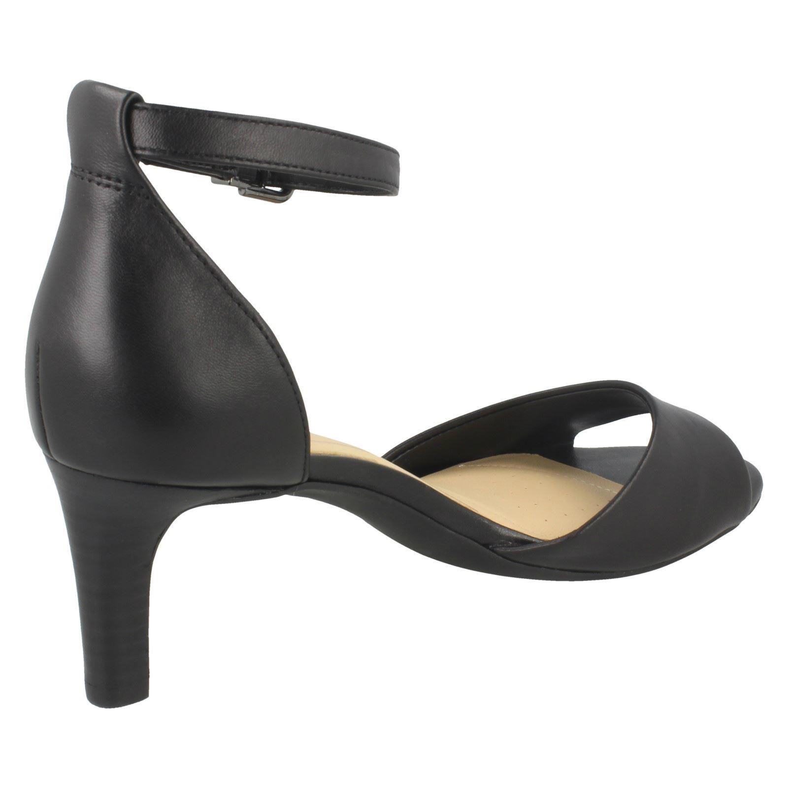 Ladies Clarks Elegant Stiletto Buckled Heeled Leather Sandals Laureti Laureti Laureti Grace da919c