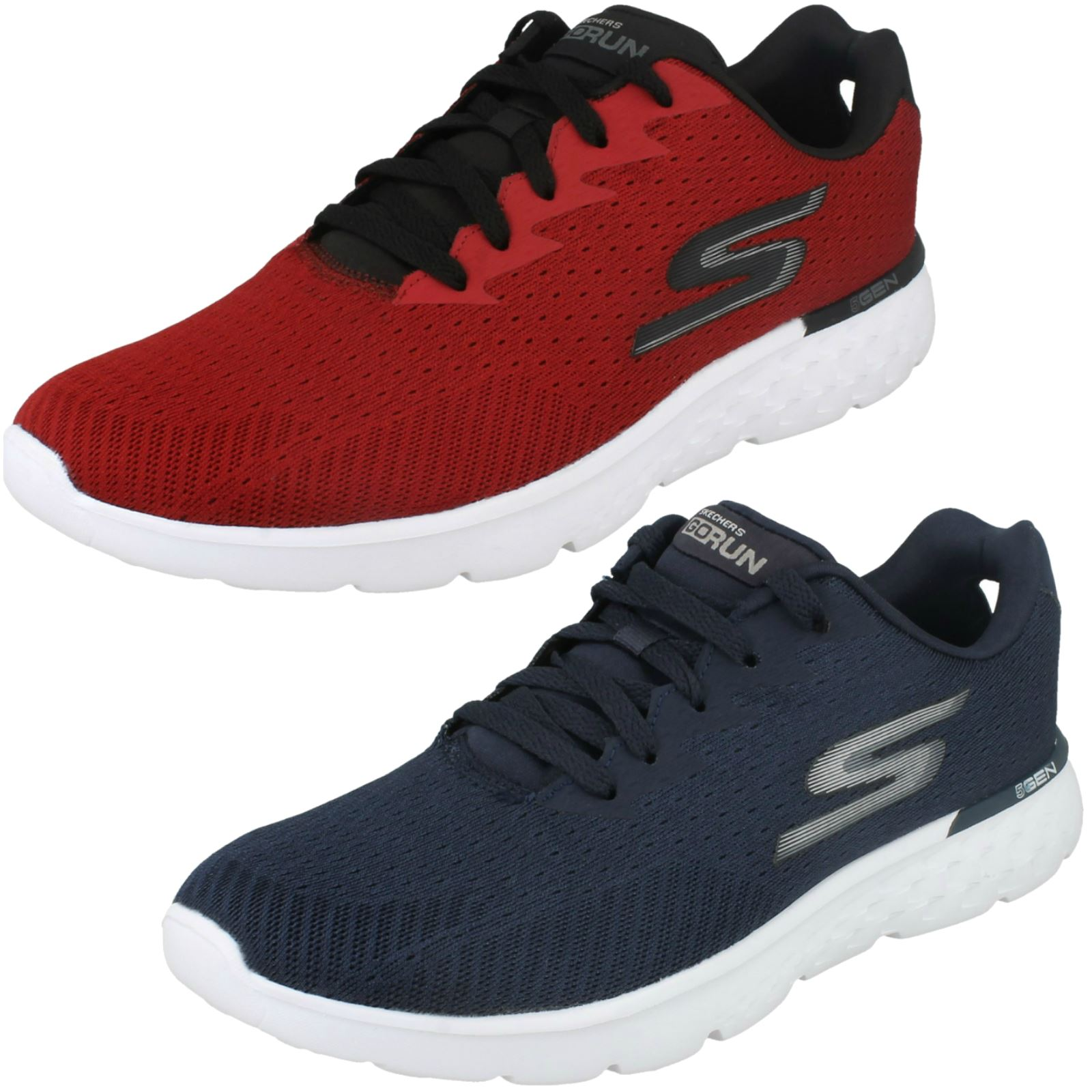 Mens Skechers Go Run Lace Up Trainers Generate 54354