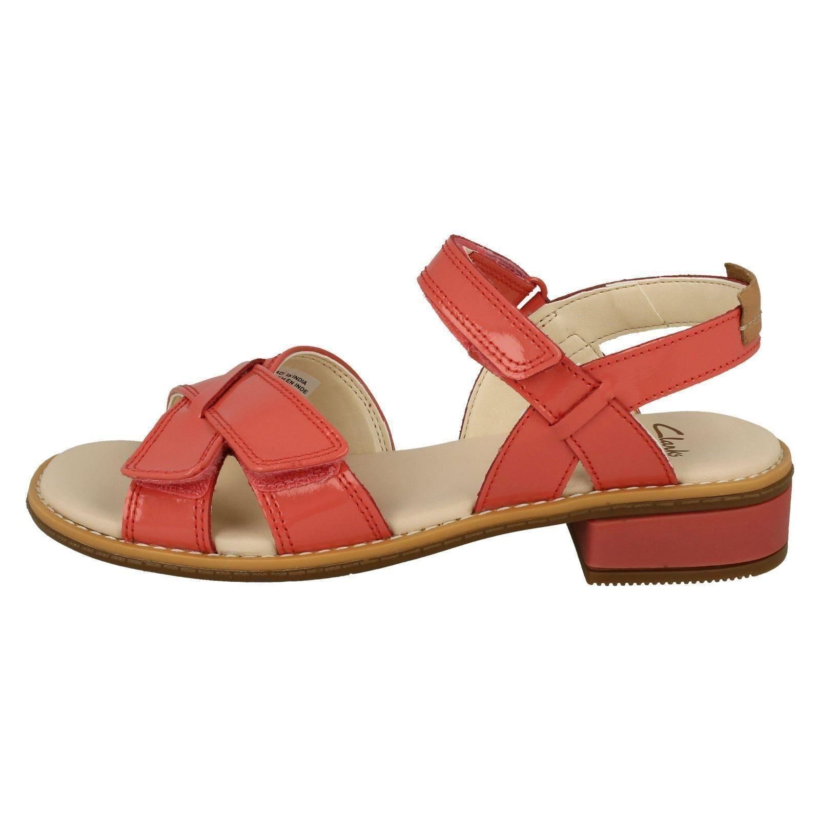 ddade53746217 Girls Clarks Patent Leather Casual Sandals Style - Darcy Charm Coral Patent  UK 4 F. About this product. Picture 1 of 10  Picture 2 of 10  Picture 3 of  10 ...