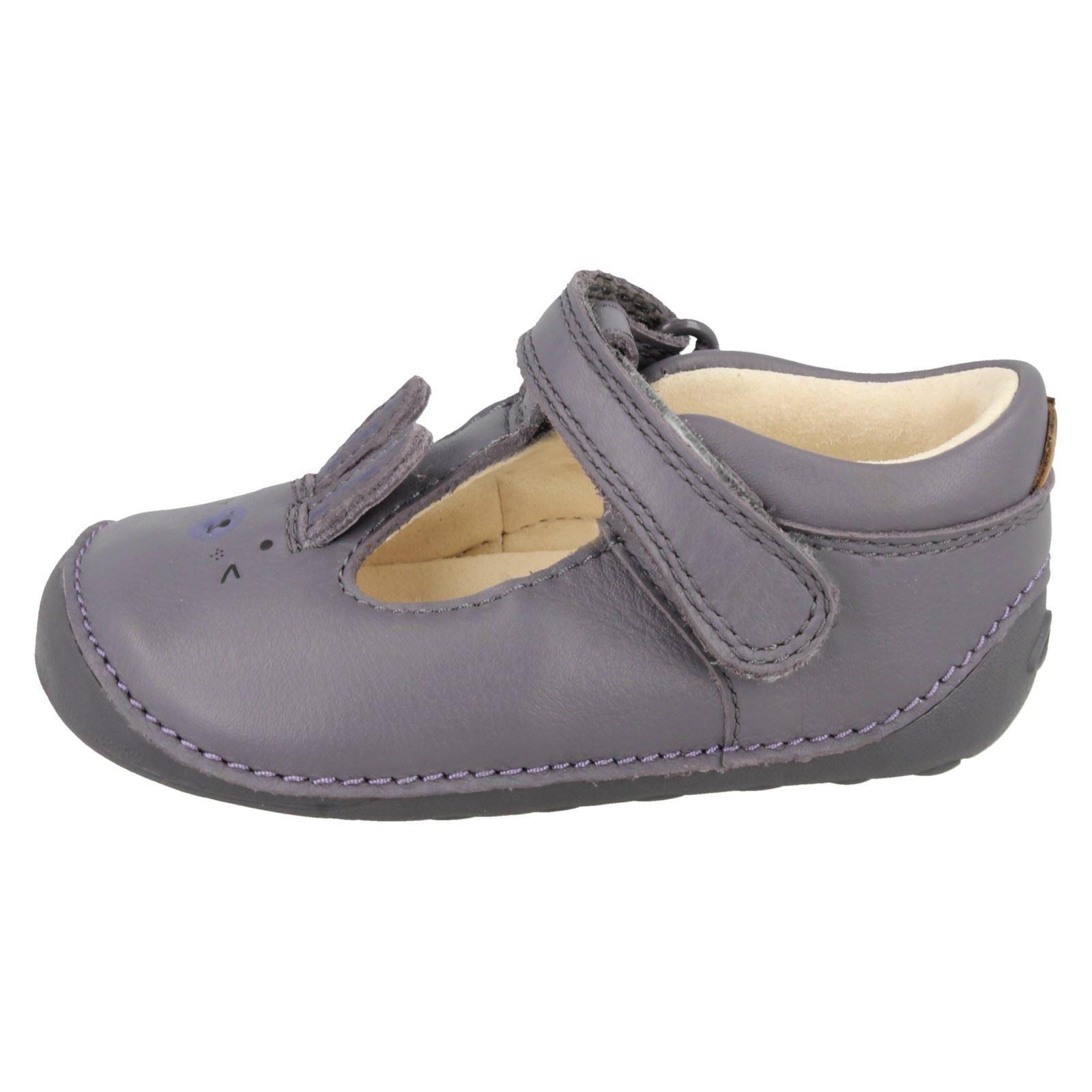 Little Glo * Filles Clarks Premières Chaussures Avec Rabbit Design