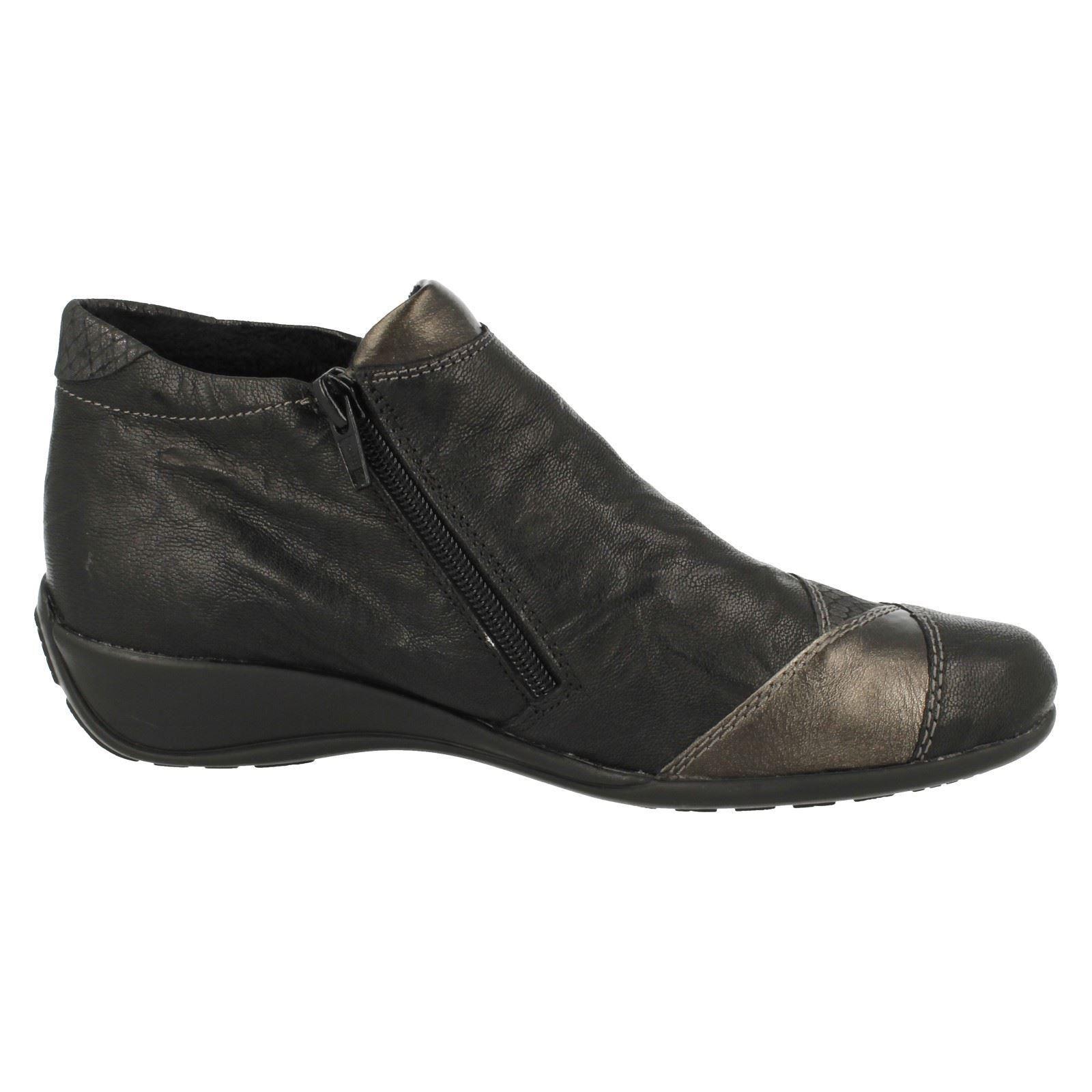 Ladies Remonte Everyday Wear Bnkle Boots R9883