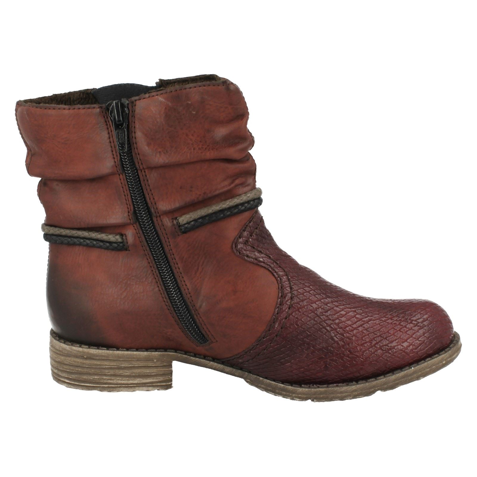 Ladies Rieker Casual Ankle Boots 74779