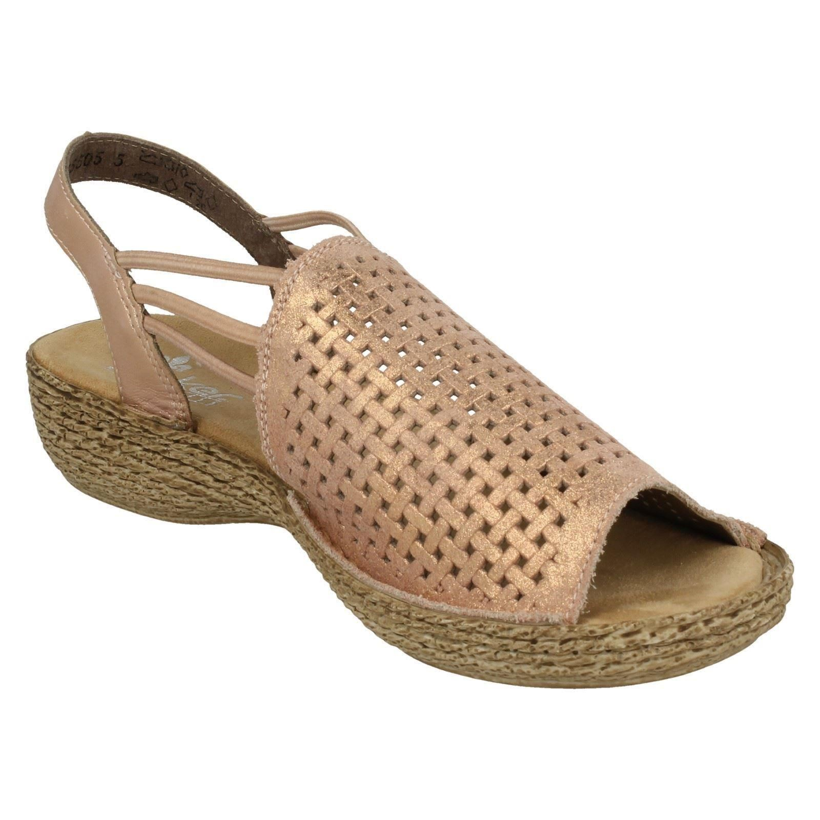 mesdames rieker cuir glisse  sur des sandales  glisse 65845 sandale décontractée c8fe91