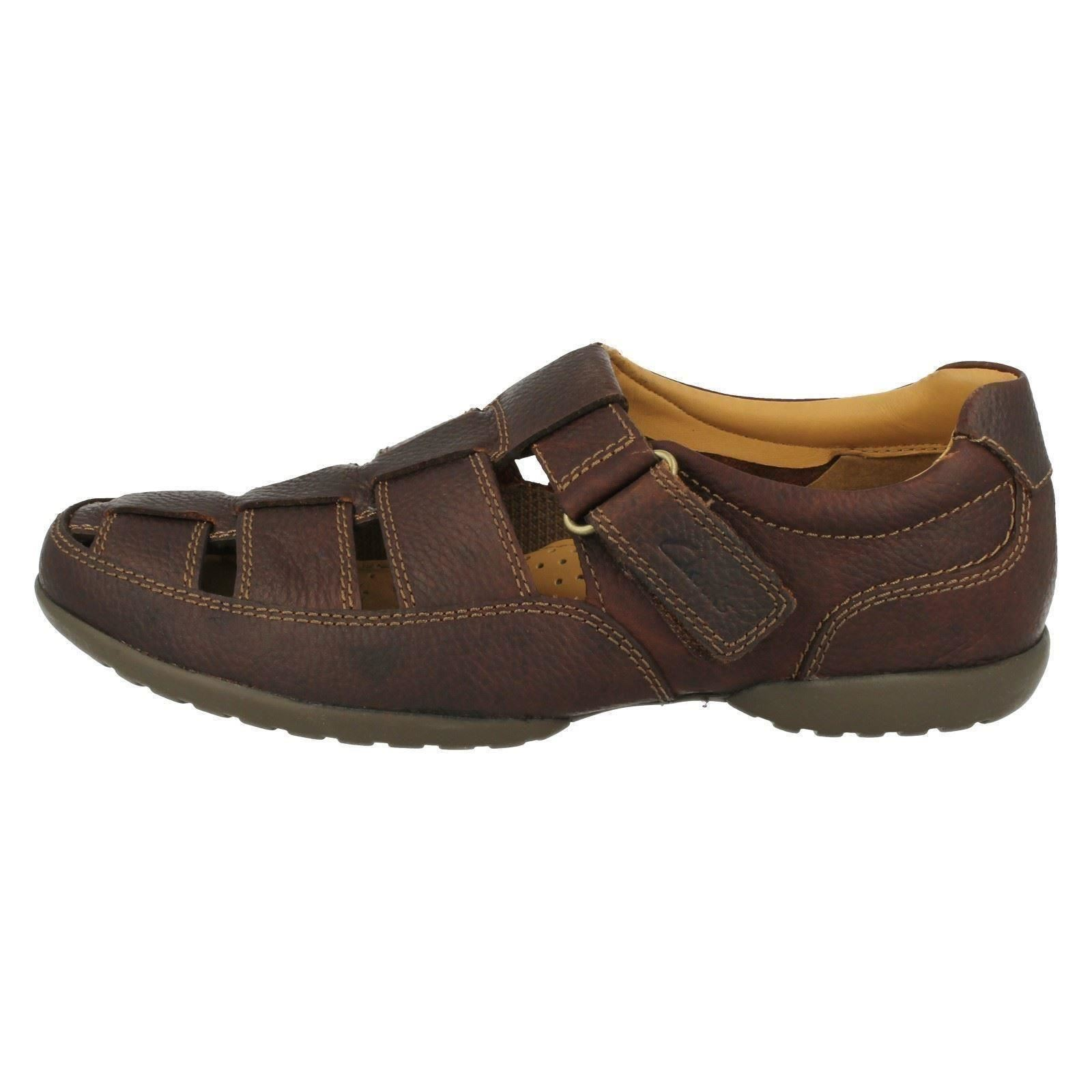 Mens Clarks Loop Hook & Loop Clarks Sandals *Recline Open* c49d02