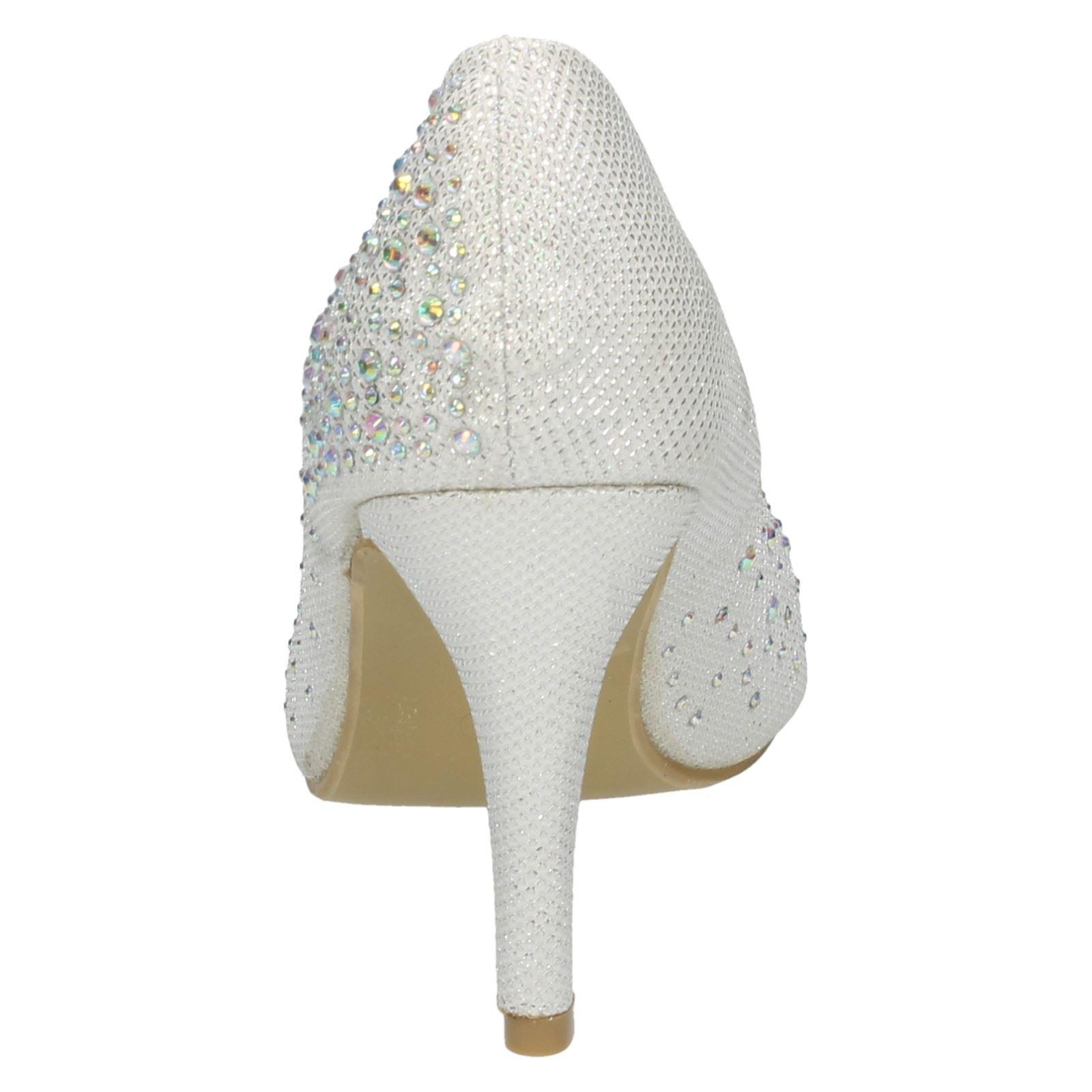 30B Kett Anne Michelle L2910 Ladies Brown Diamante Detail Court Shoe