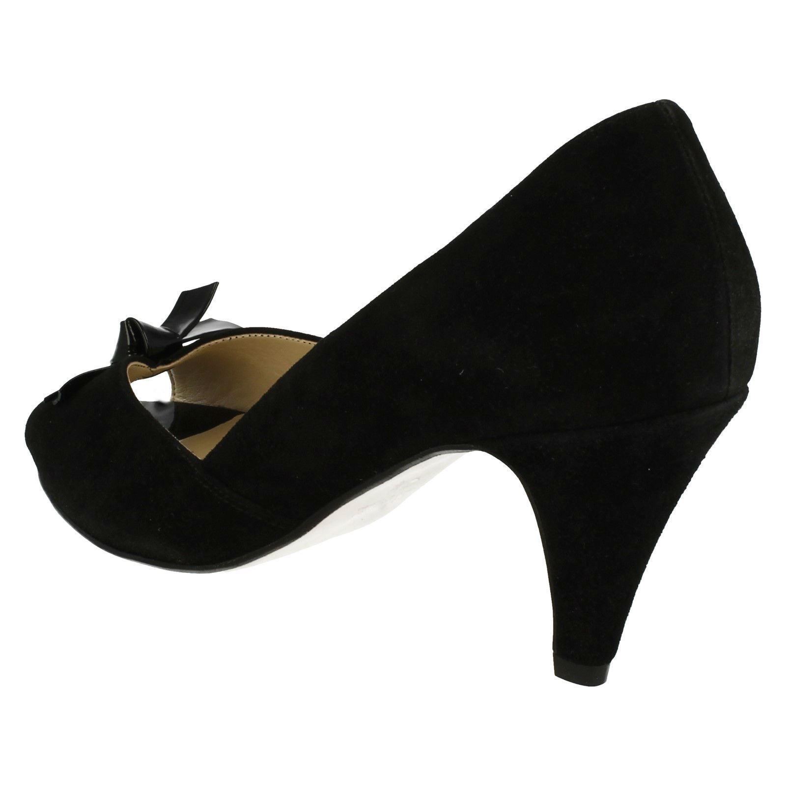 Ladies Van Dal Heydon Formal Peep Toe Heels With Bow Trim