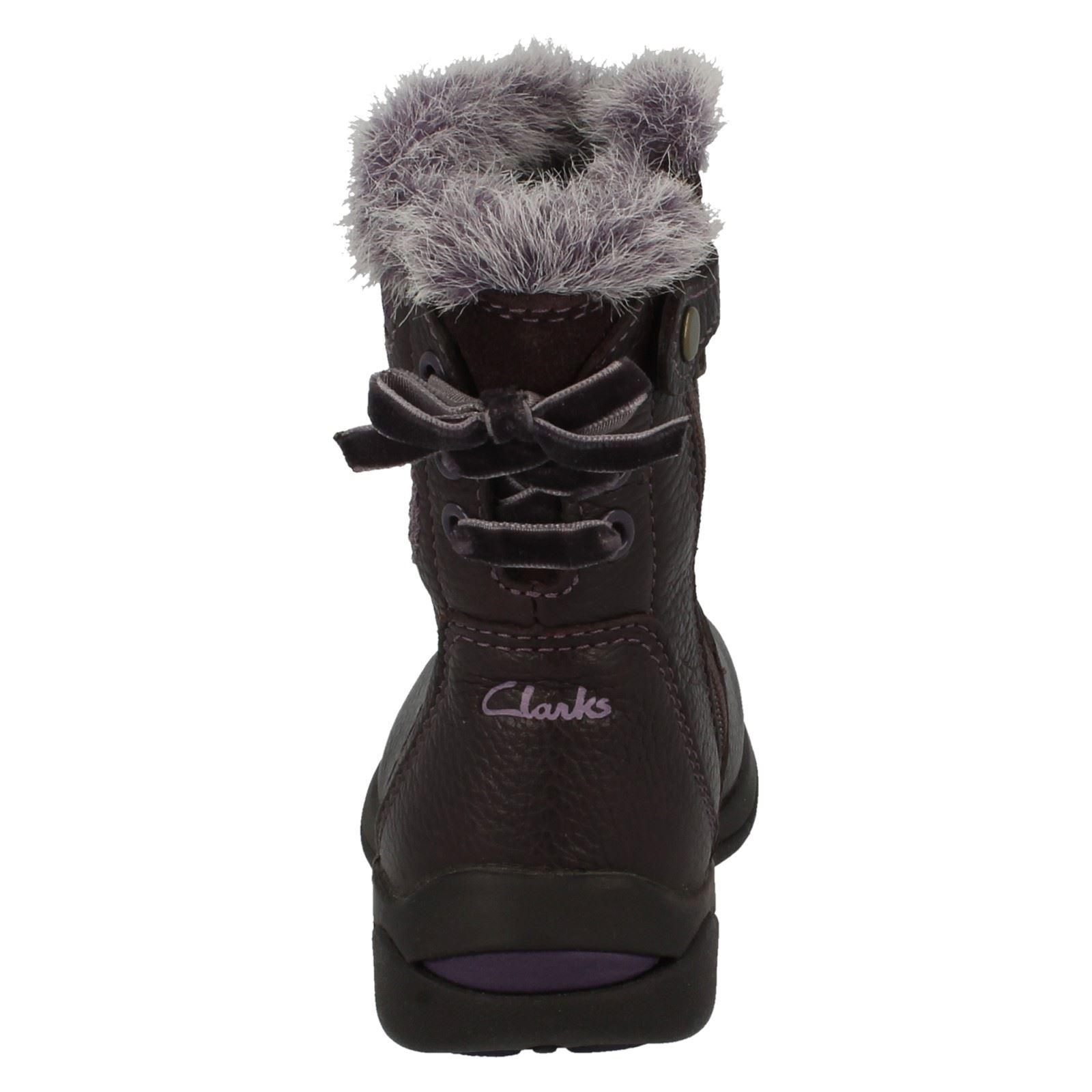 Clarks para chicas Ice púrpura Gtx Botas Ciruela casual Lace qtBn5v