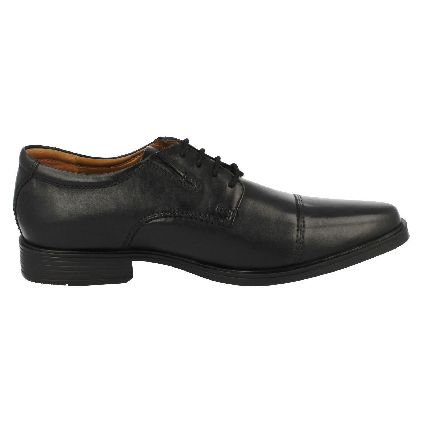 Mens-Clarks-Formal-Lace-Up-Shoes-Tilden-Cap thumbnail 6
