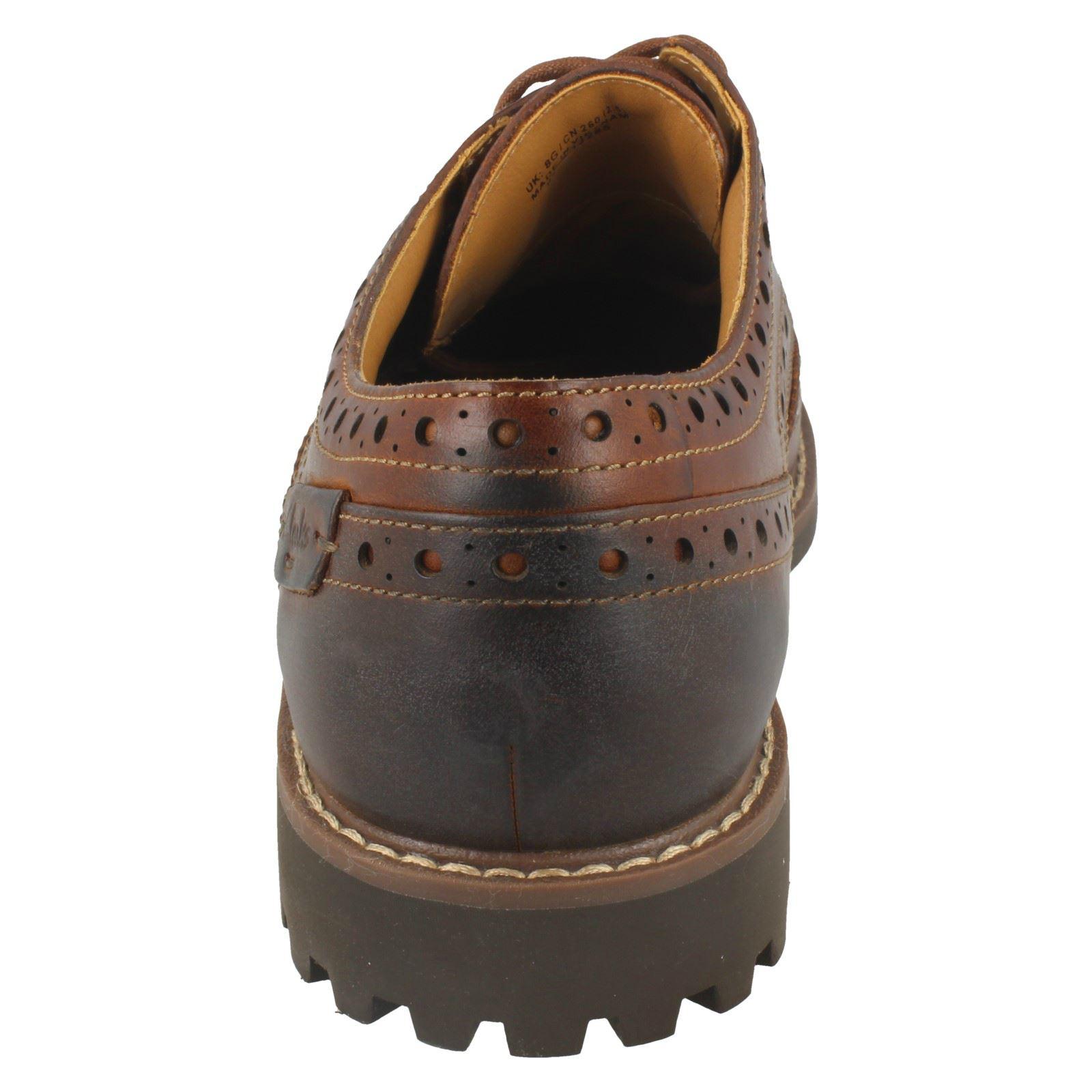 Wing Dark Zapatos para formales Tan Clarks Brogue Montacute marrón hombre rnFrOqx
