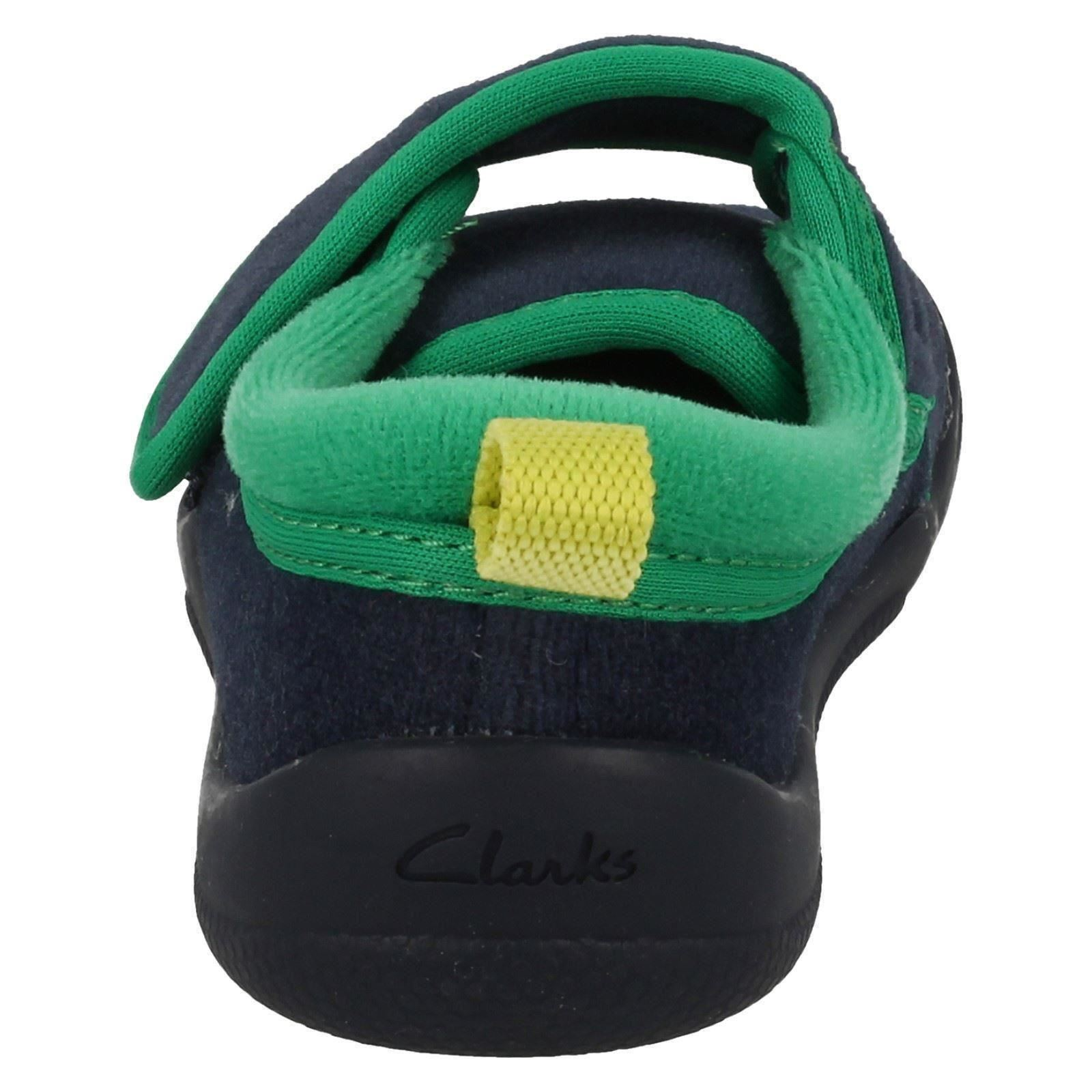 Chicos Clarks textil Hook & Loop Dinosaurio temática Zapatillas * Cuba Stompo *