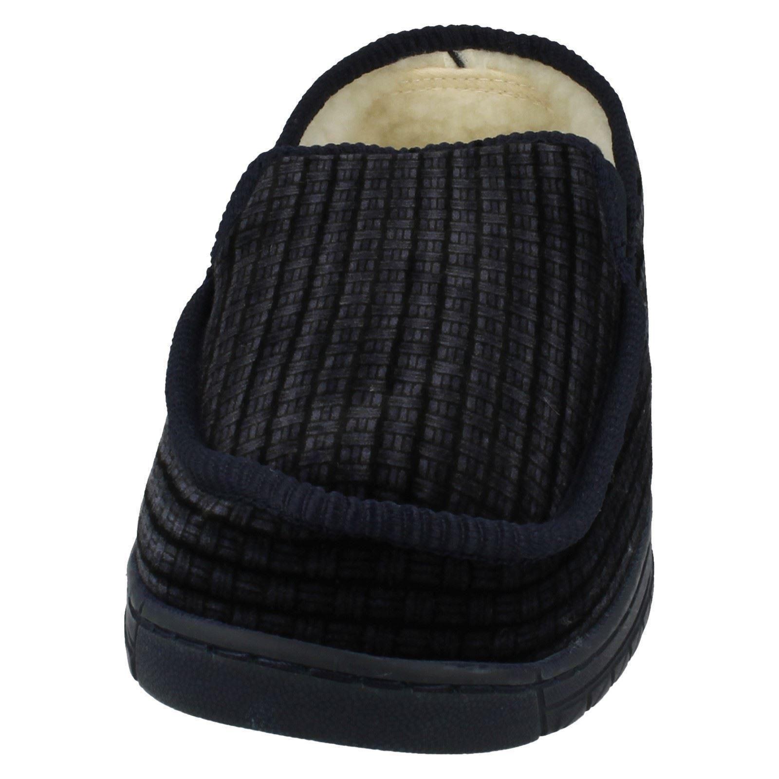 Para Hombre Punto en warmlined Casa Zapatillas 69144
