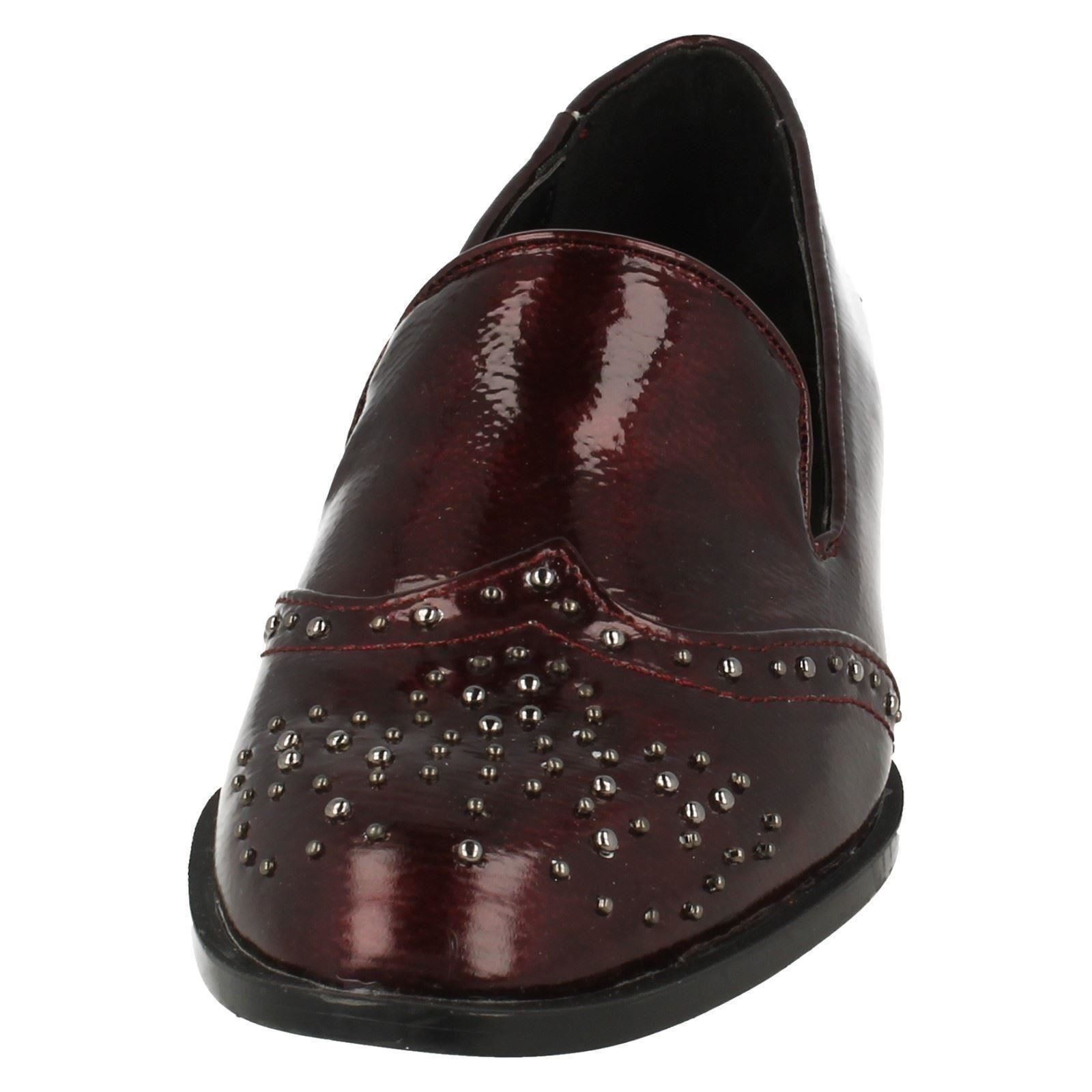Ladies-Spot-On-Slip-On-Loafer-Style-Shoe