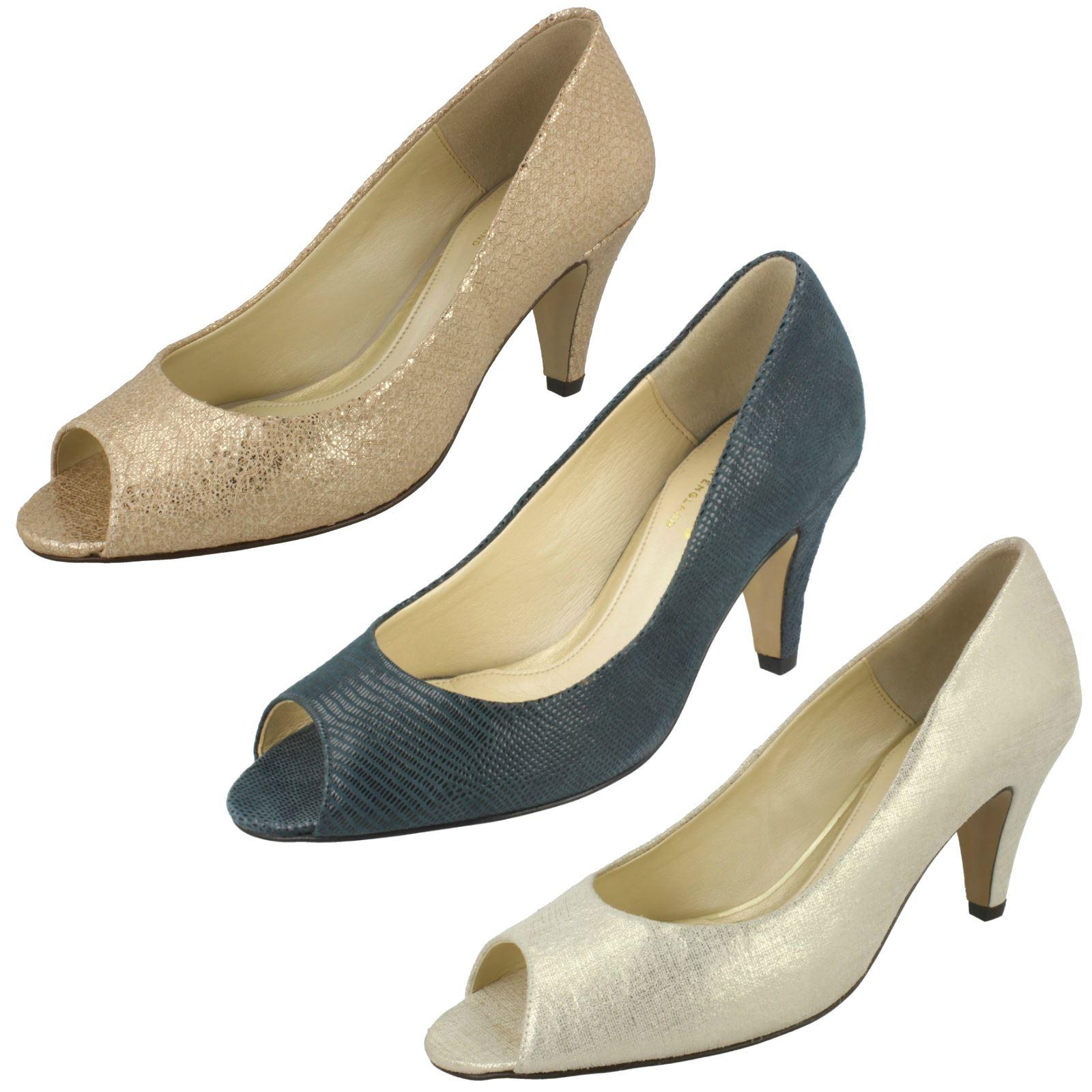 Ladies Van Dal Elegant Peep Toe Formal