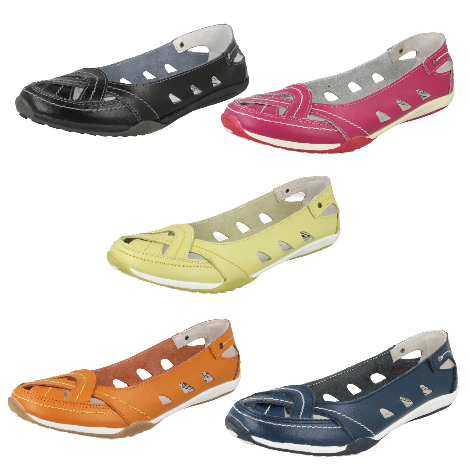 Ladies Down To Earth Flat Casual Pumps